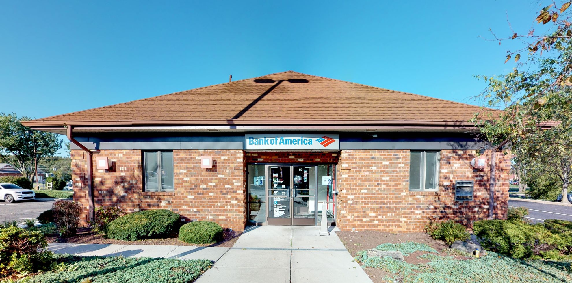 Bank of America financial center with drive-thru ATM   80 Route 9, Englishtown, NJ 07726