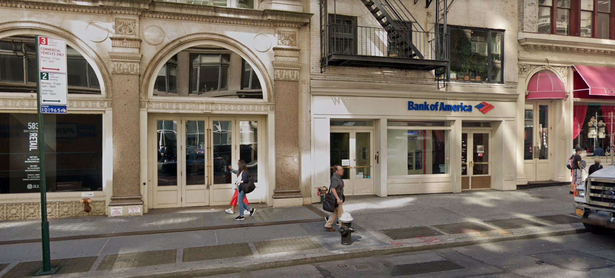 Bank of America financial center with walk-up ATM | 589 Broadway, New York, NY 10012