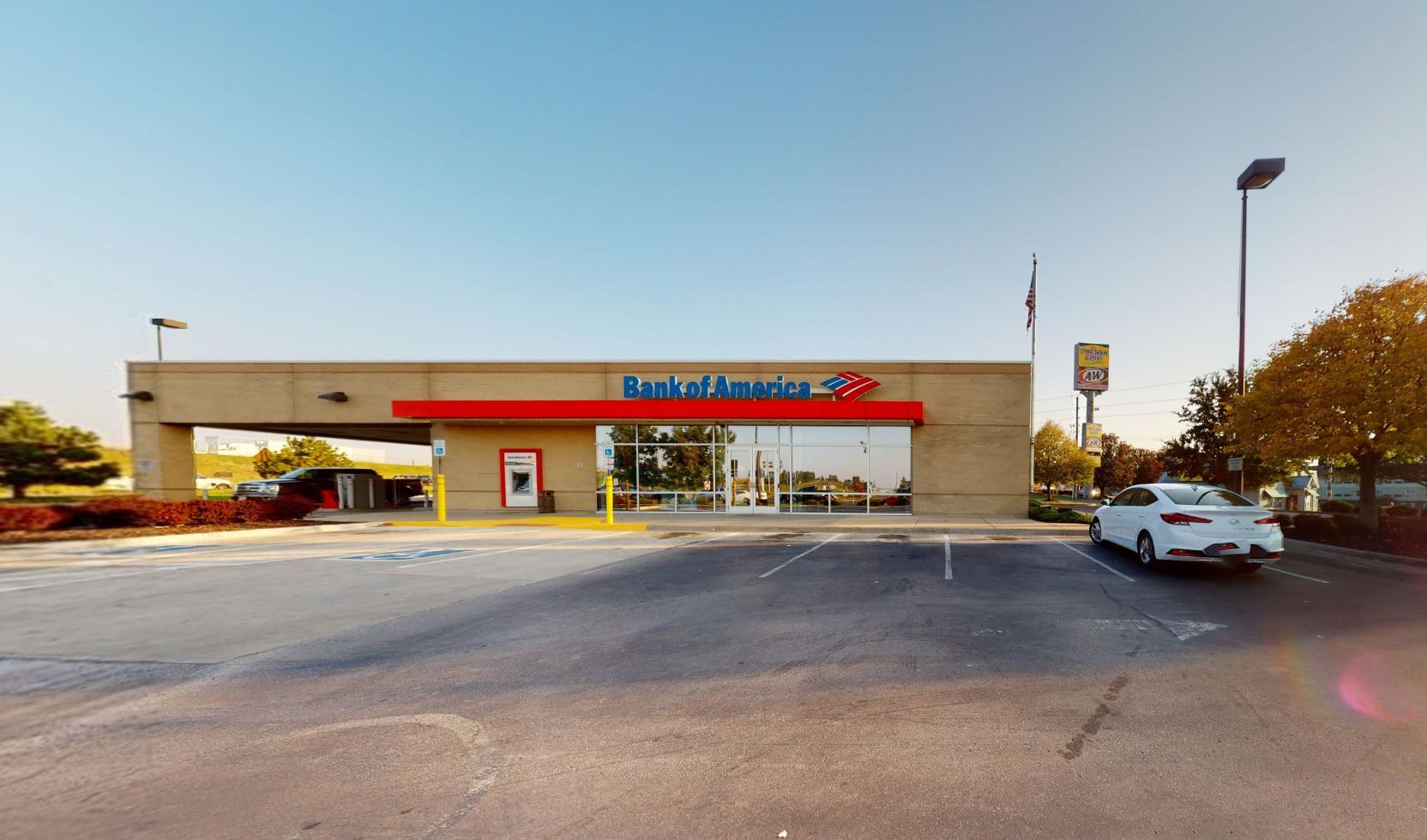 Bank of America financial center with drive-thru ATM   8351 NW Prairie View Rd, Kansas City, MO 64151