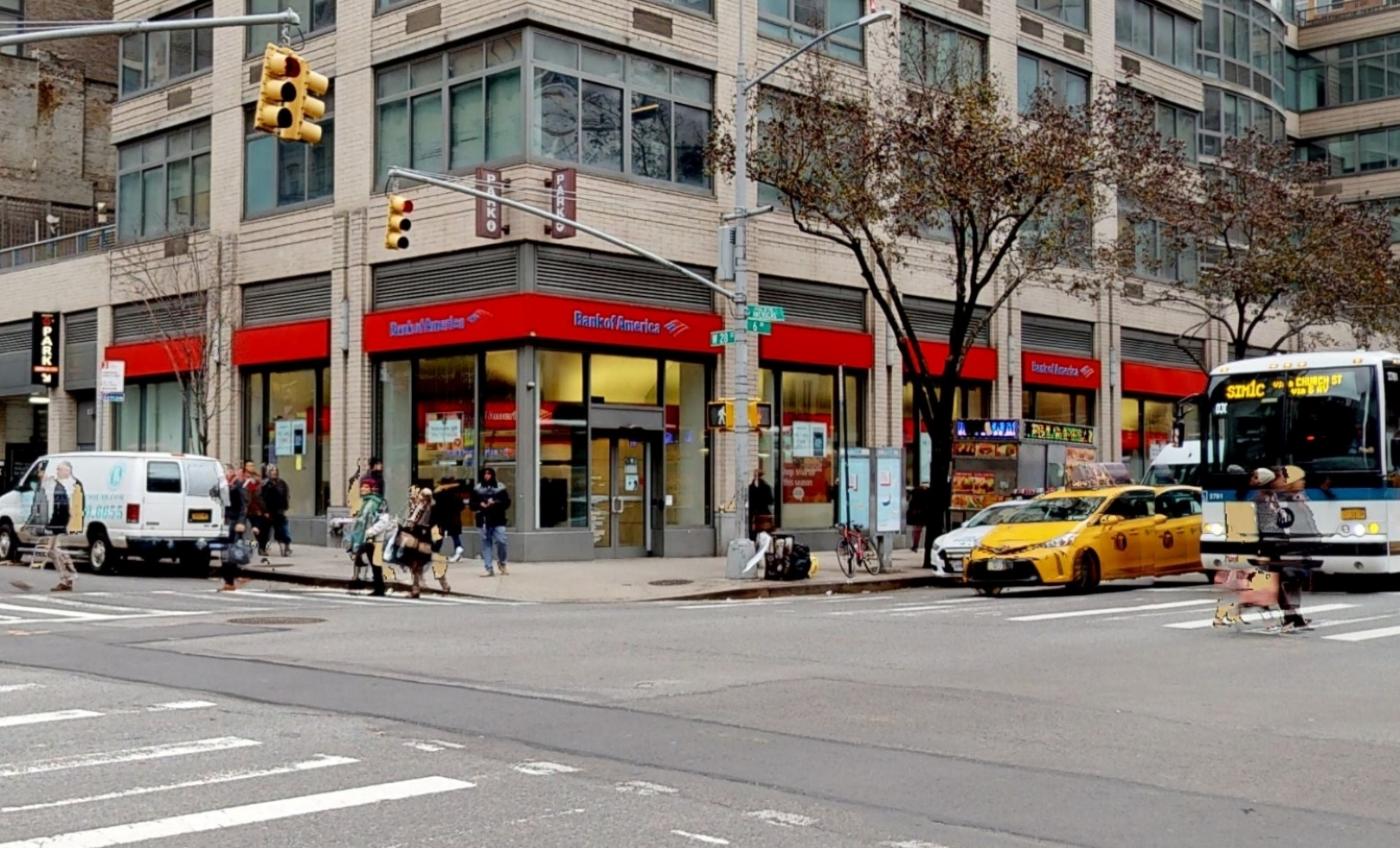Bank of America financial center with walk-up ATM | 800 Avenue of the Americas, New York, NY 10001
