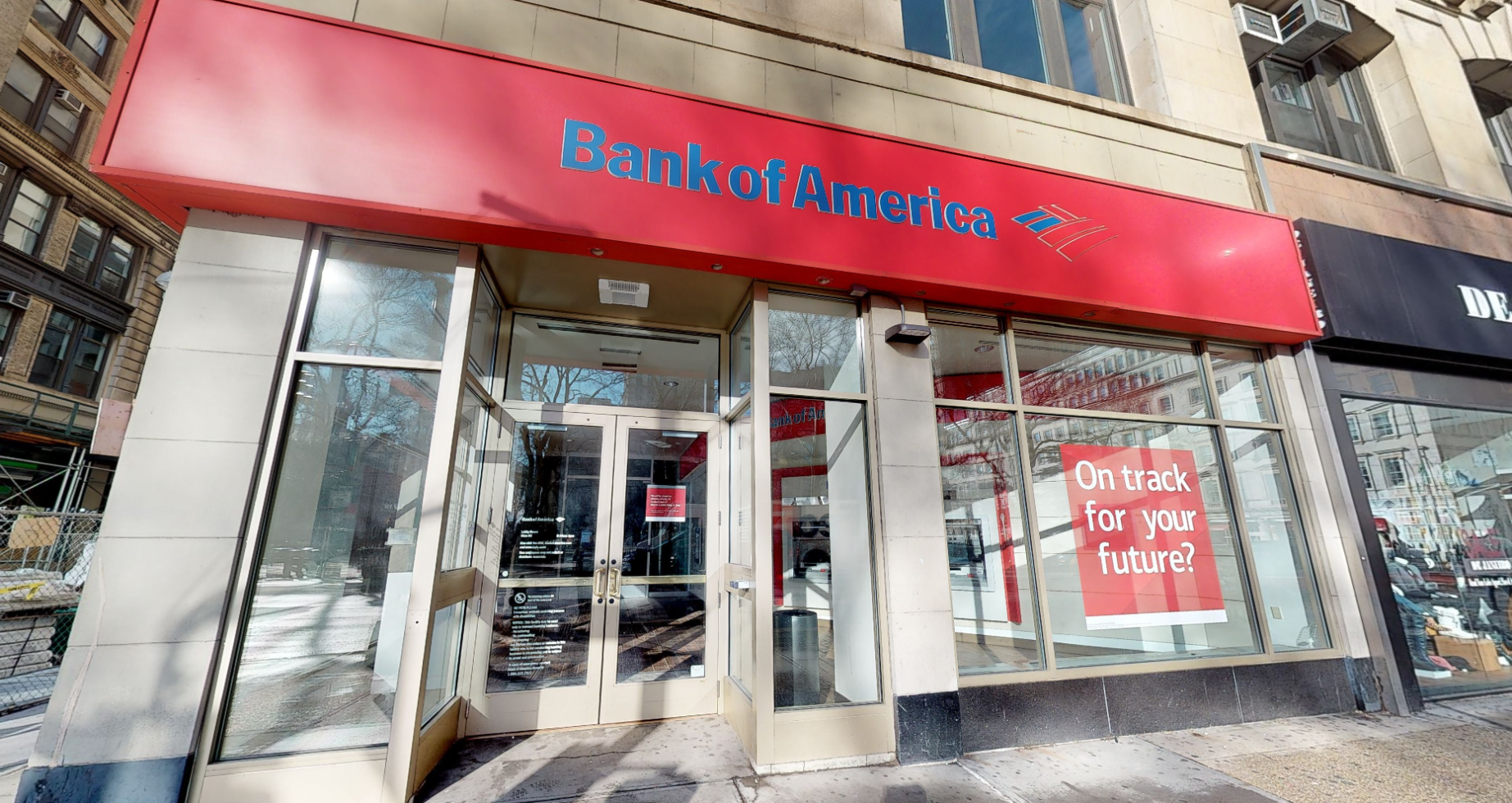 Bank of America financial center with walk-up ATM | 261 Broadway, New York, NY 10007