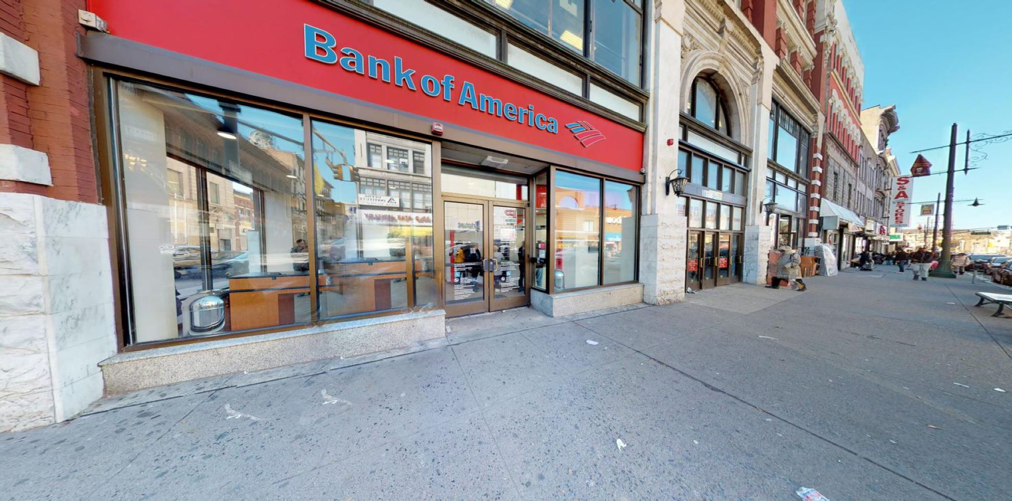 Bank of America financial center with walk-up ATM   190 Main St, Paterson, NJ 07505