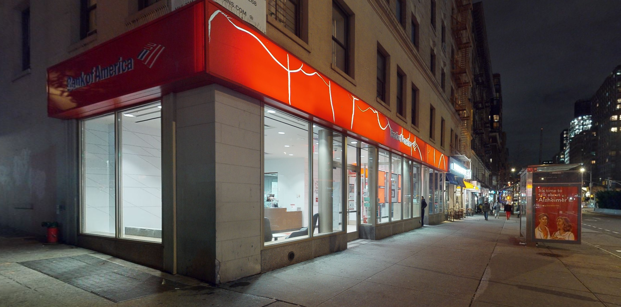 Bank of America financial center with walk-up ATM | 2574 Broadway, New York, NY 10025