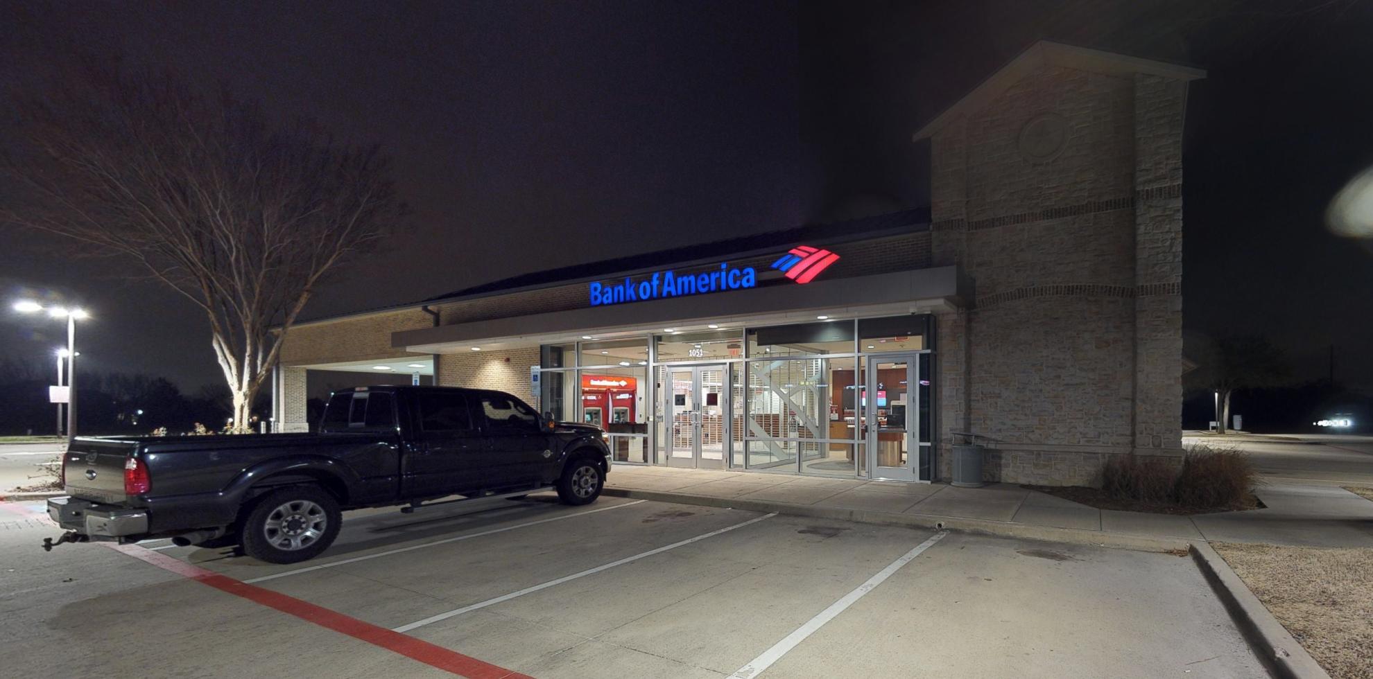Bank of America financial center with drive-thru ATM   1051 Flower Mound Rd, Flower Mound, TX 75028