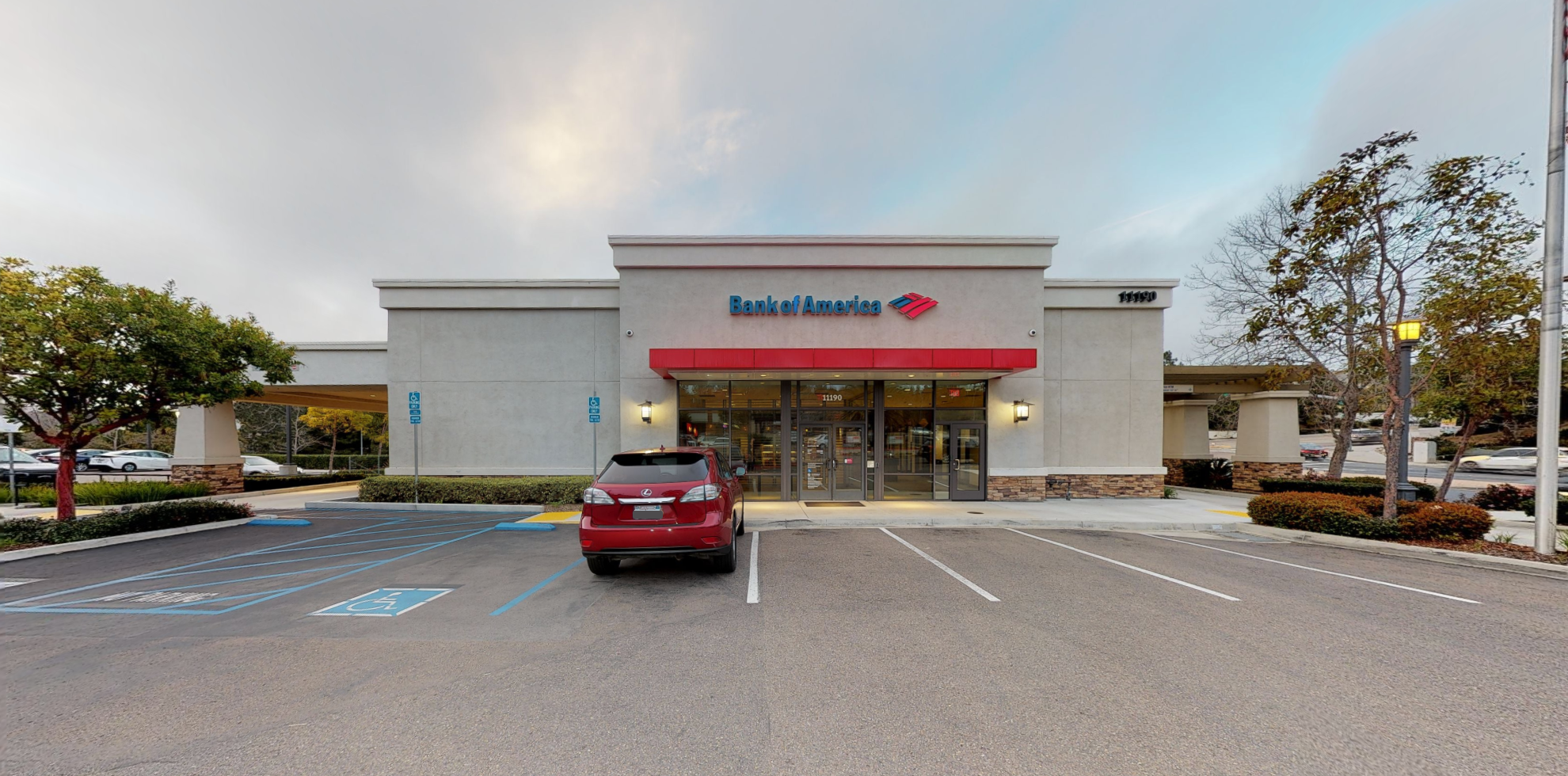 Bank of America financial center with drive-thru ATM   11190 E Ocean Air Dr, San Diego, CA 92130