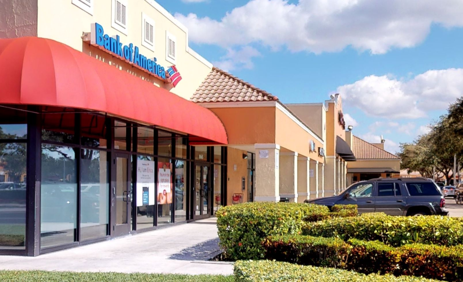 Bank of America financial center with walk-up ATM   8665 NW 186th St, Hialeah, FL 33015