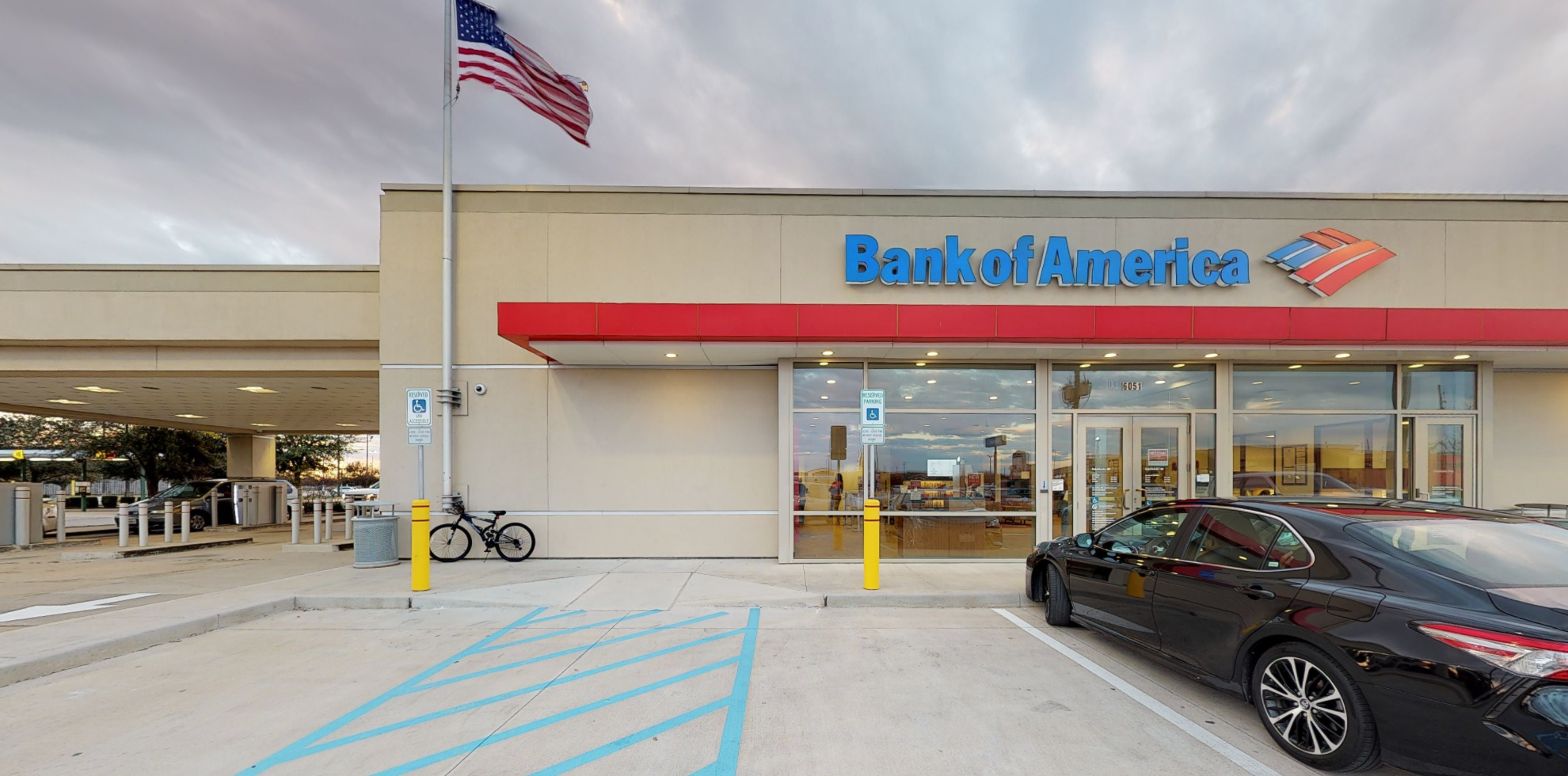 Bank of America financial center with drive-thru ATM   6051 N Fry Rd, Katy, TX 77449
