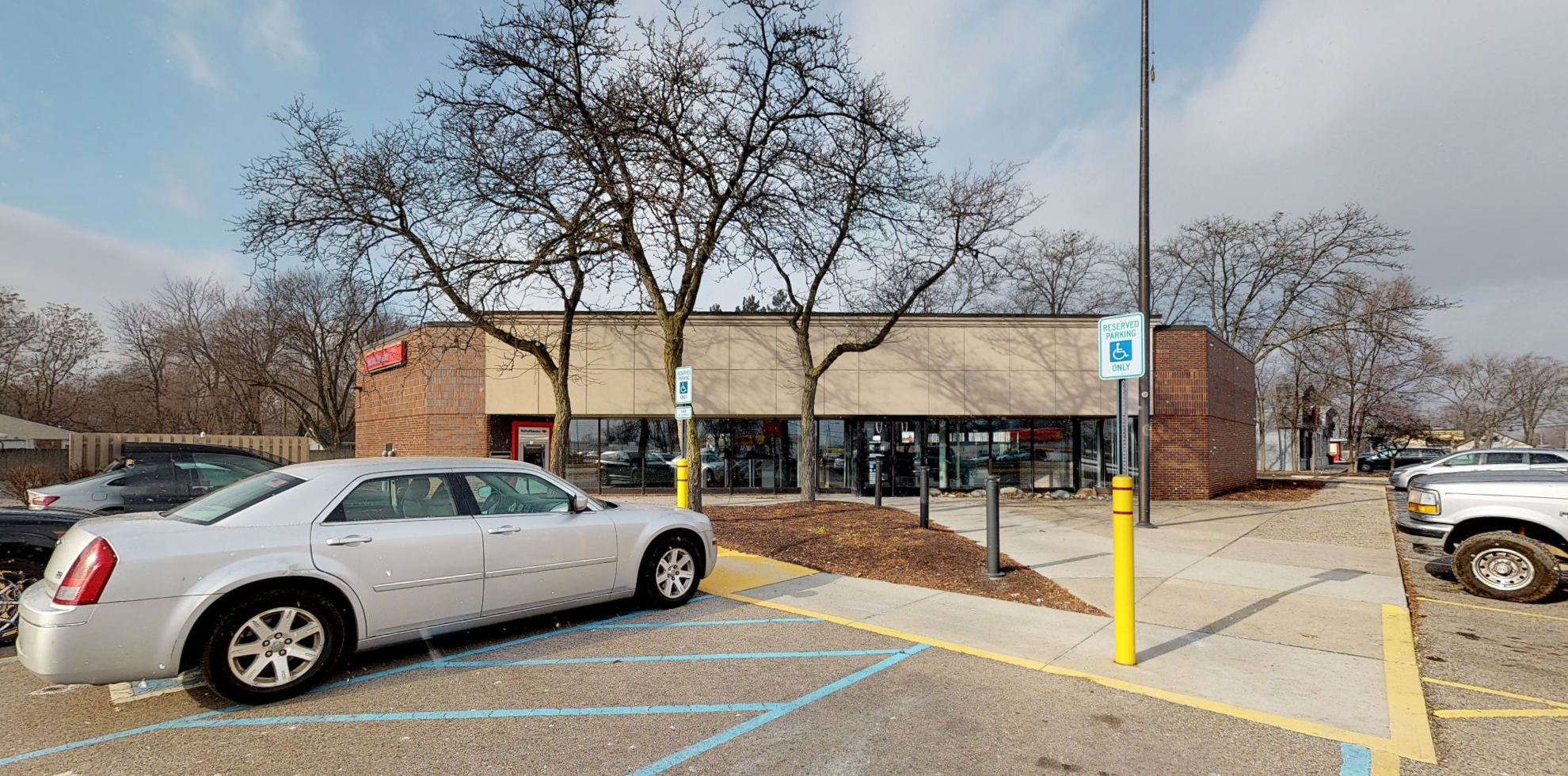 Bank of America financial center with drive-thru ATM   121 N Wayne Rd, Westland, MI 48185