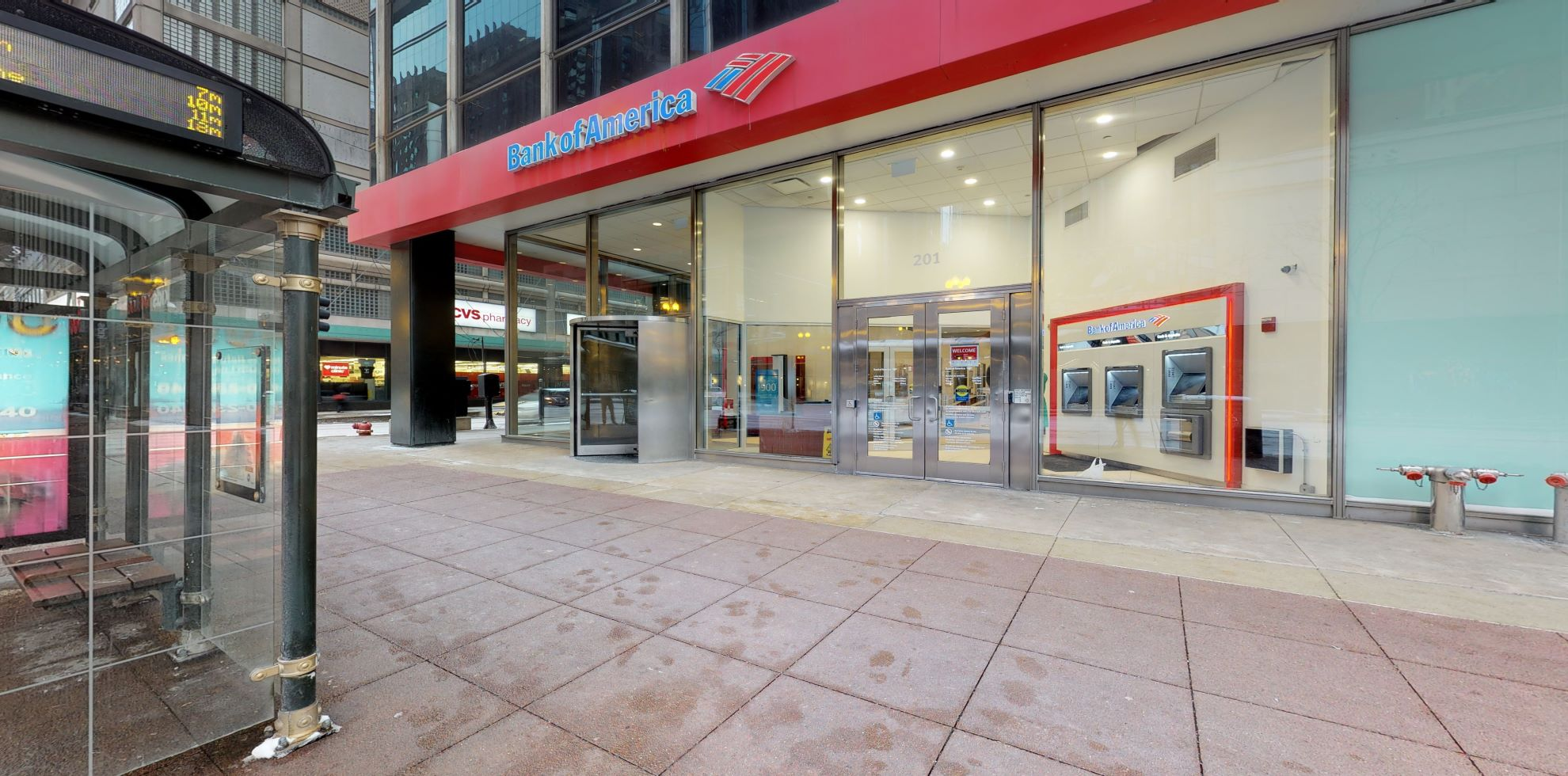 Bank of America financial center with walk-up ATM | 201 S State St, Chicago, IL 60604