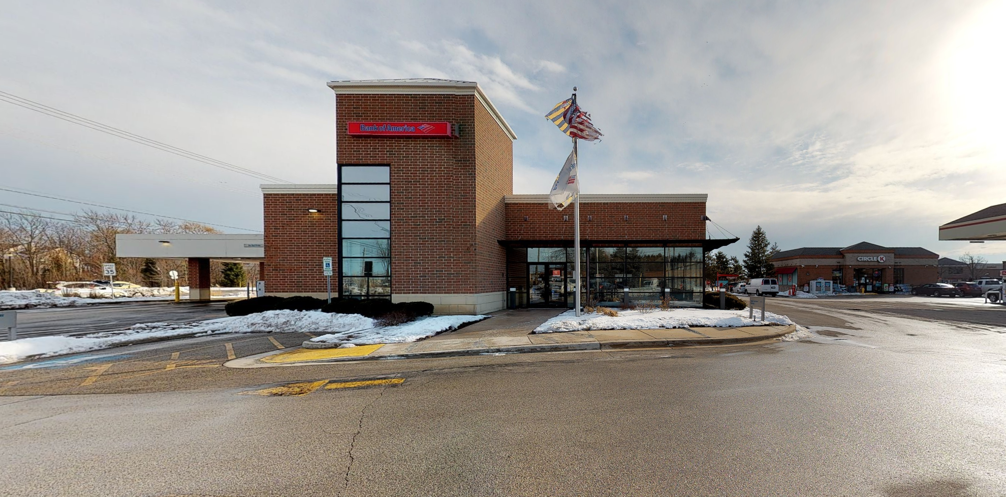 Bank of America financial center with drive-thru ATM   957 E Belvidere Rd, Grayslake, IL 60030
