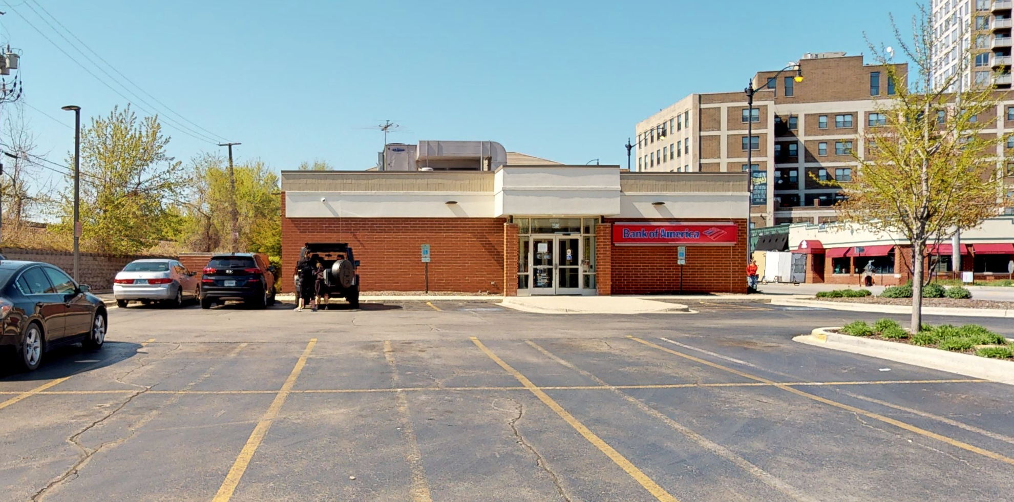 Bank of America financial center with drive-thru ATM and teller   7516 N Clark St, Chicago, IL 60626