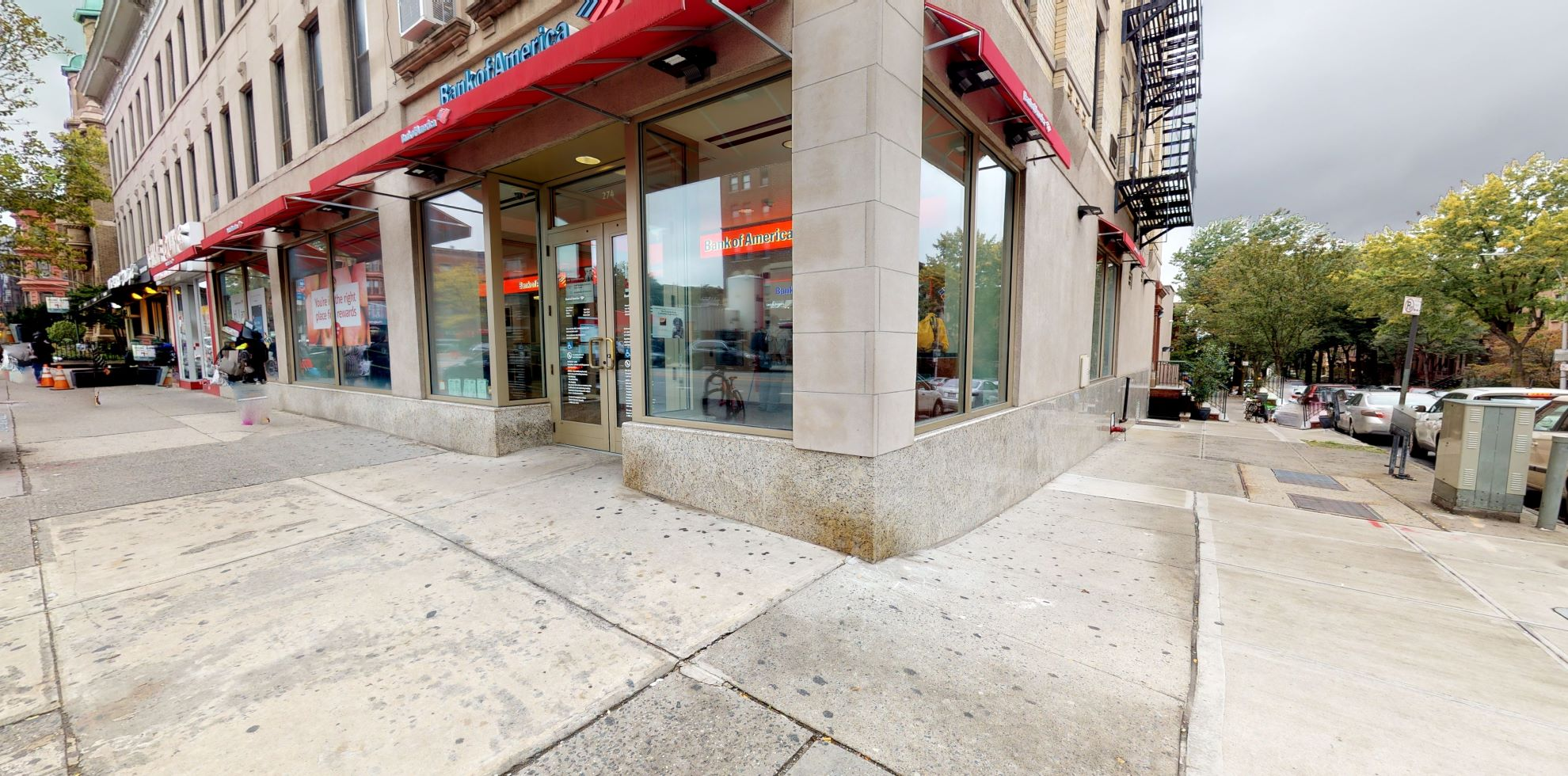 Bank of America financial center with walk-up ATM   274 7th Ave, Brooklyn, NY 11215