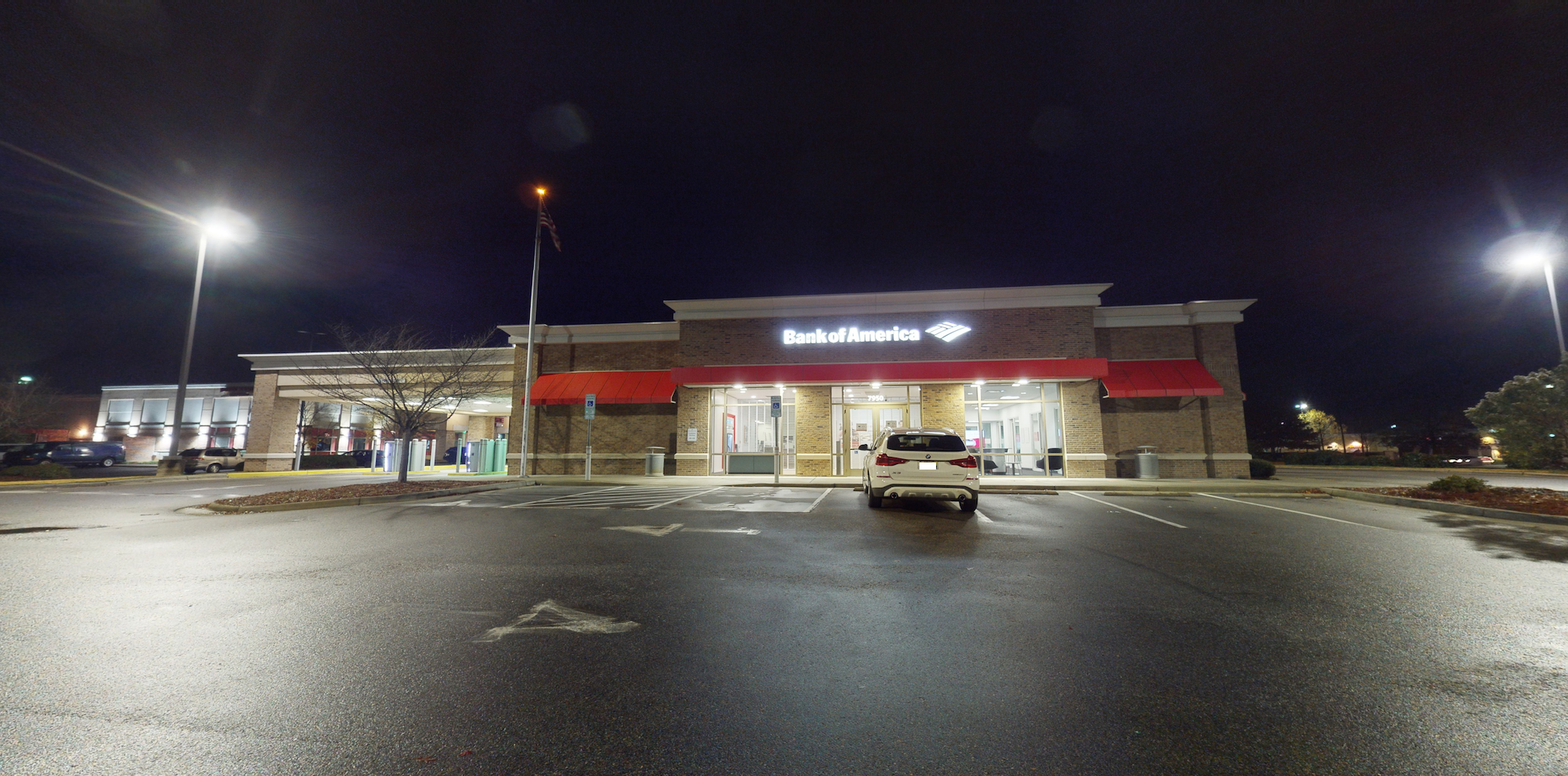 Bank of America financial center with drive-thru ATM   7950 Brier Creek Pkwy, Raleigh, NC 27617