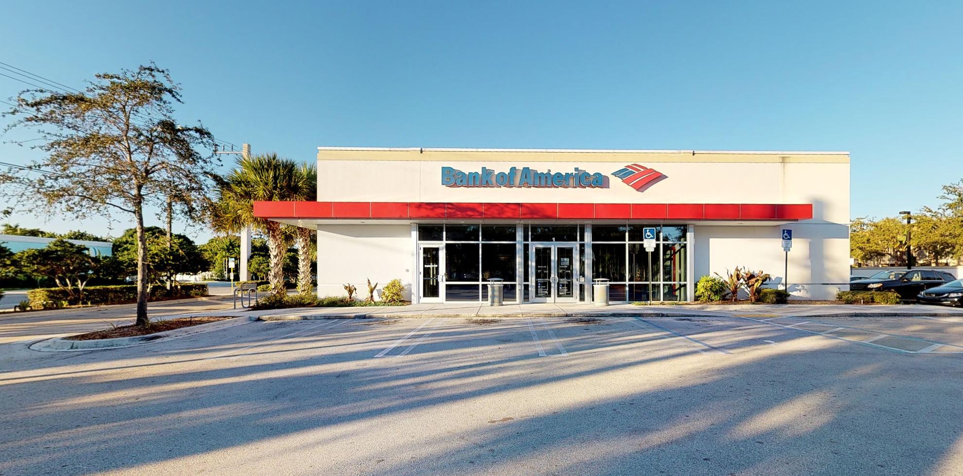 Bank of America financial center with drive-thru ATM   1 E McNab Rd, Pompano Beach, FL 33060