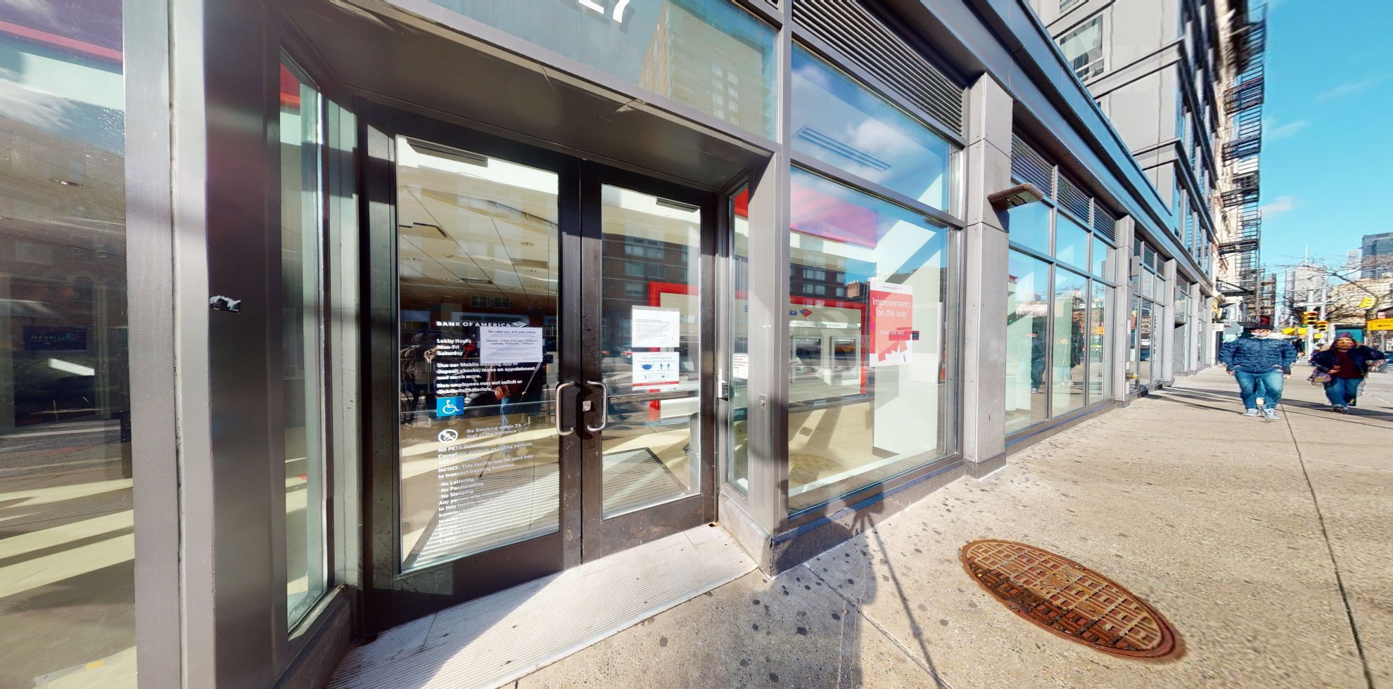 Bank of America financial center with walk-up ATM | 127 8th Ave, New York, NY 10011