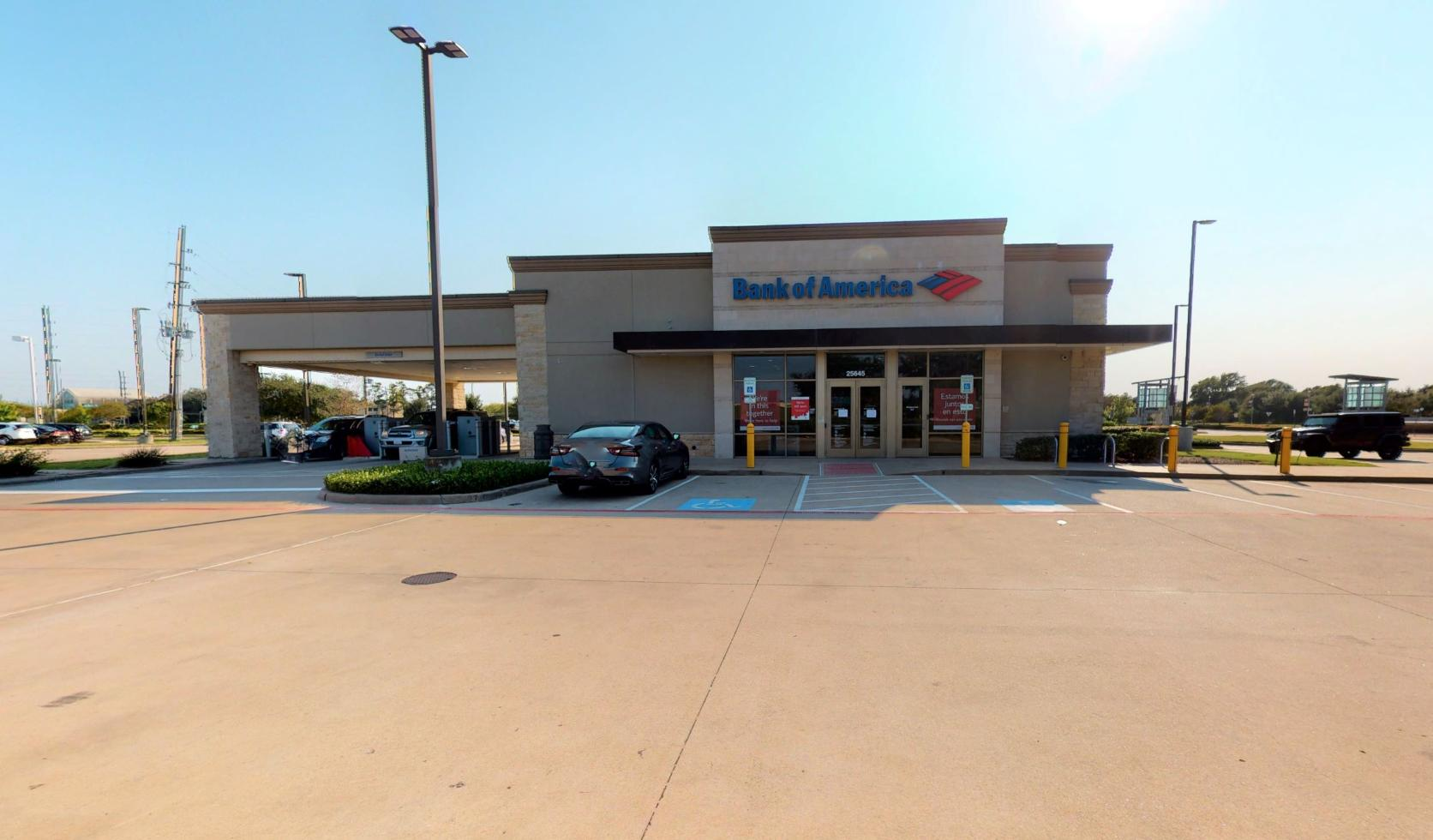 Bank of America financial center with drive-thru ATM   25645 Katy Fwy, Katy, TX 77494