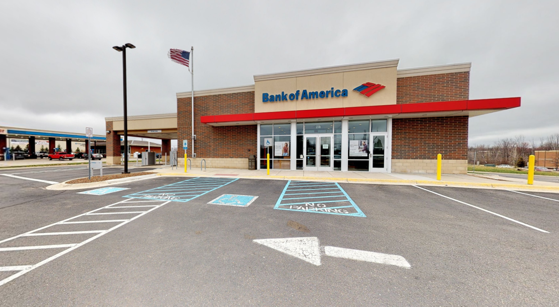 Bank of America financial center with drive-thru ATM   2748 S Adams Rd, Rochester Hills, MI 48309