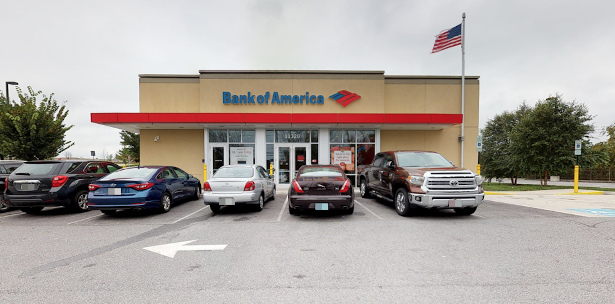 Bank of America financial center with drive-thru ATM   11320 York Rd, Cockeysville, MD 21030