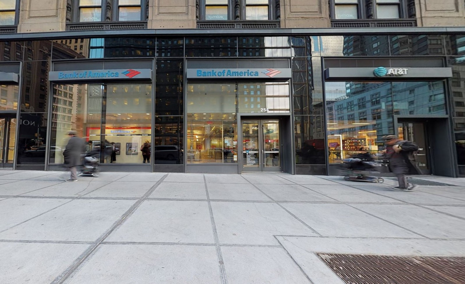 Bank of America financial center with walk-up ATM   254 W 57th St, New York, NY 10107