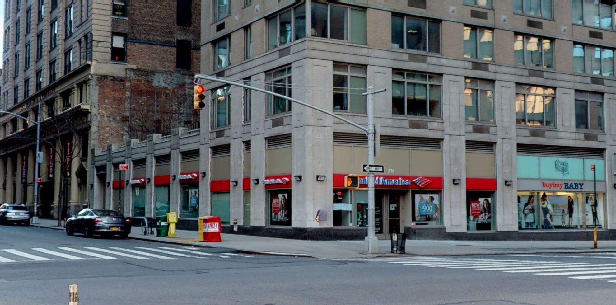 Bank of America financial center with walk-up ATM | 270 7th Ave, New York, NY 10001