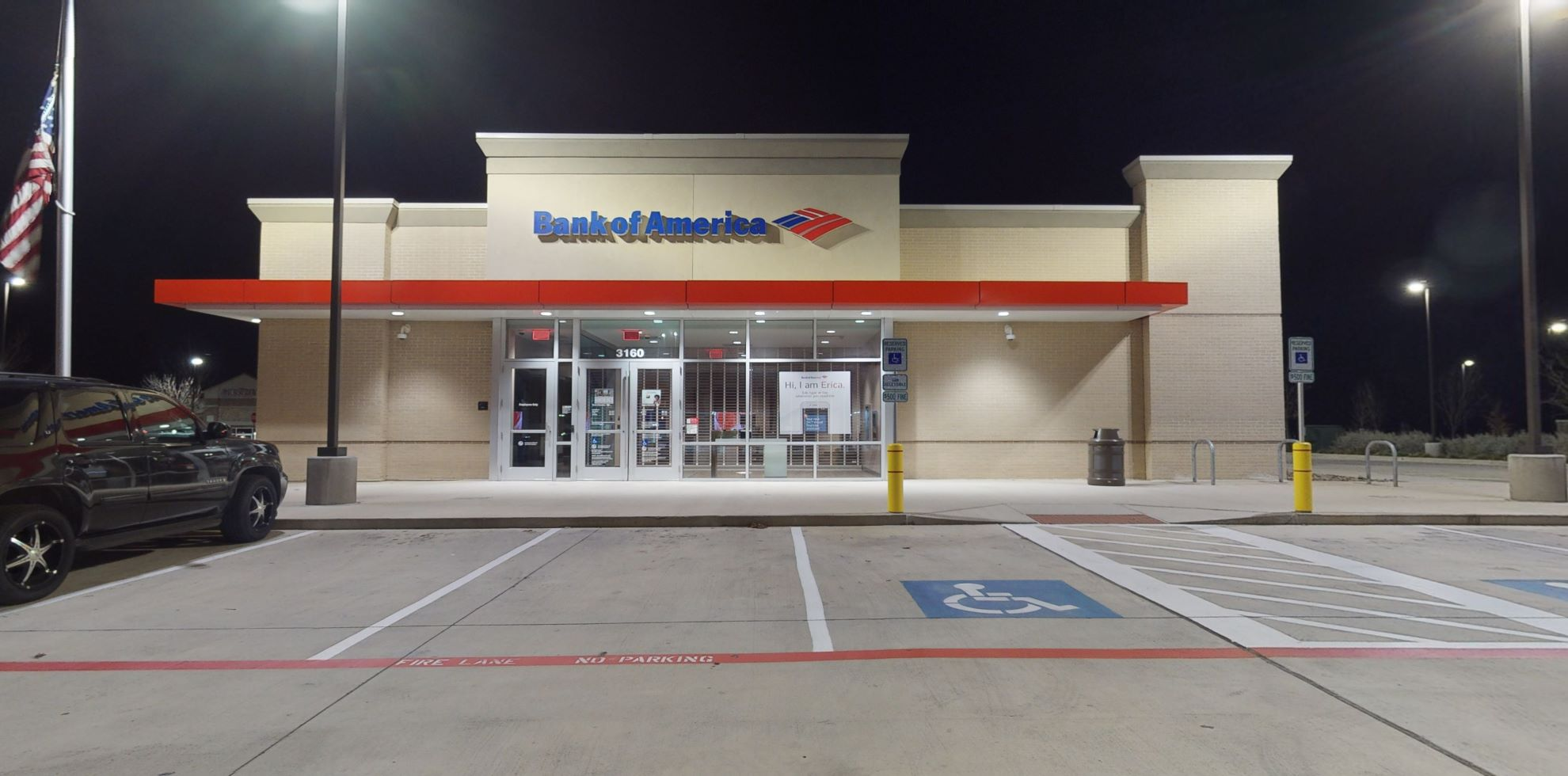 Bank of America financial center with drive-thru ATM | 3160 E Broad St, Mansfield, TX 76063