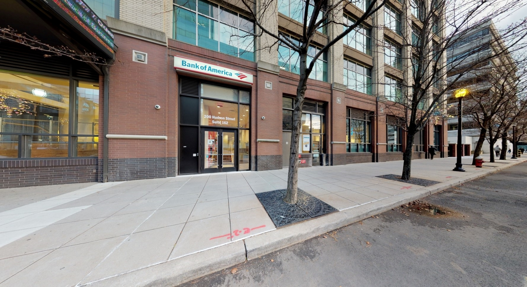 Bank of America financial center with walk-up ATM   200 Hudson St STE 162, Jersey City, NJ 07311