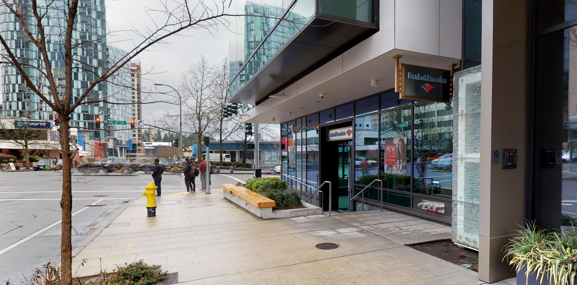 Bank of America financial center with drive-thru ATM   10572 NE 4th St, Bellevue, WA 98004