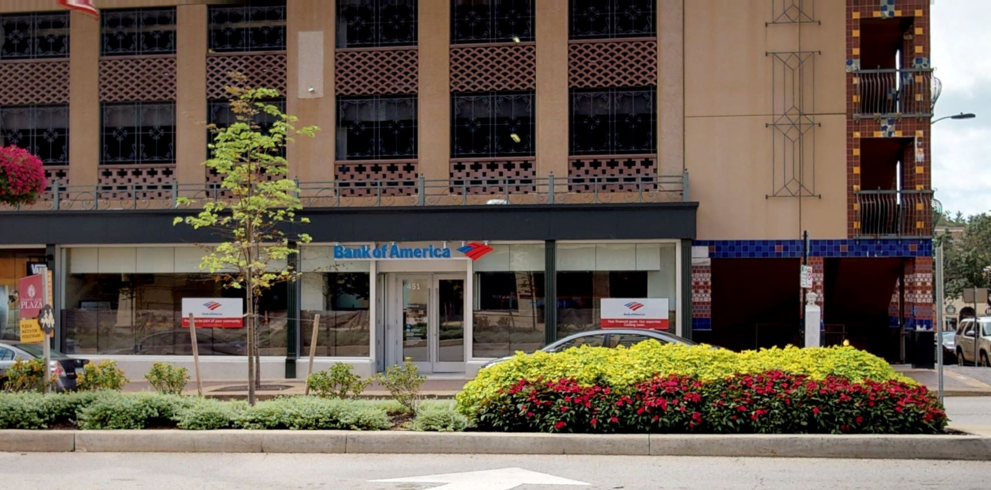 Bank of America financial center with walk-up ATM   451 W 47th St, Kansas City, MO 64112