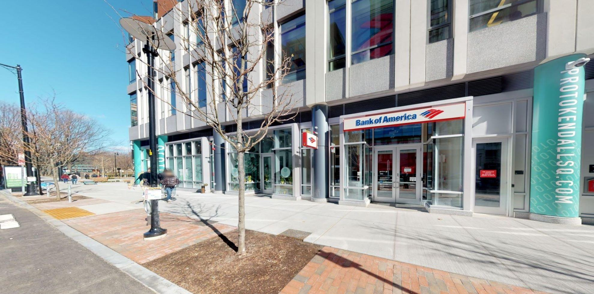 Bank of America financial center with walk-up ATM   92 Ames St, Cambridge, MA 02142