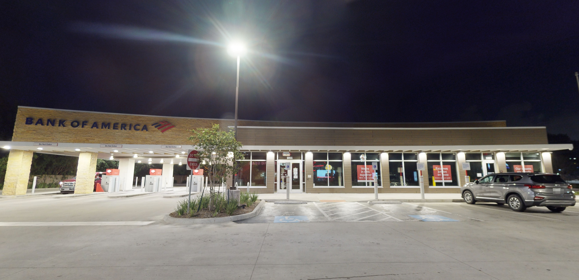 Bank of America financial center with drive-thru ATM | 1011 Federal Rd, Houston, TX 77015