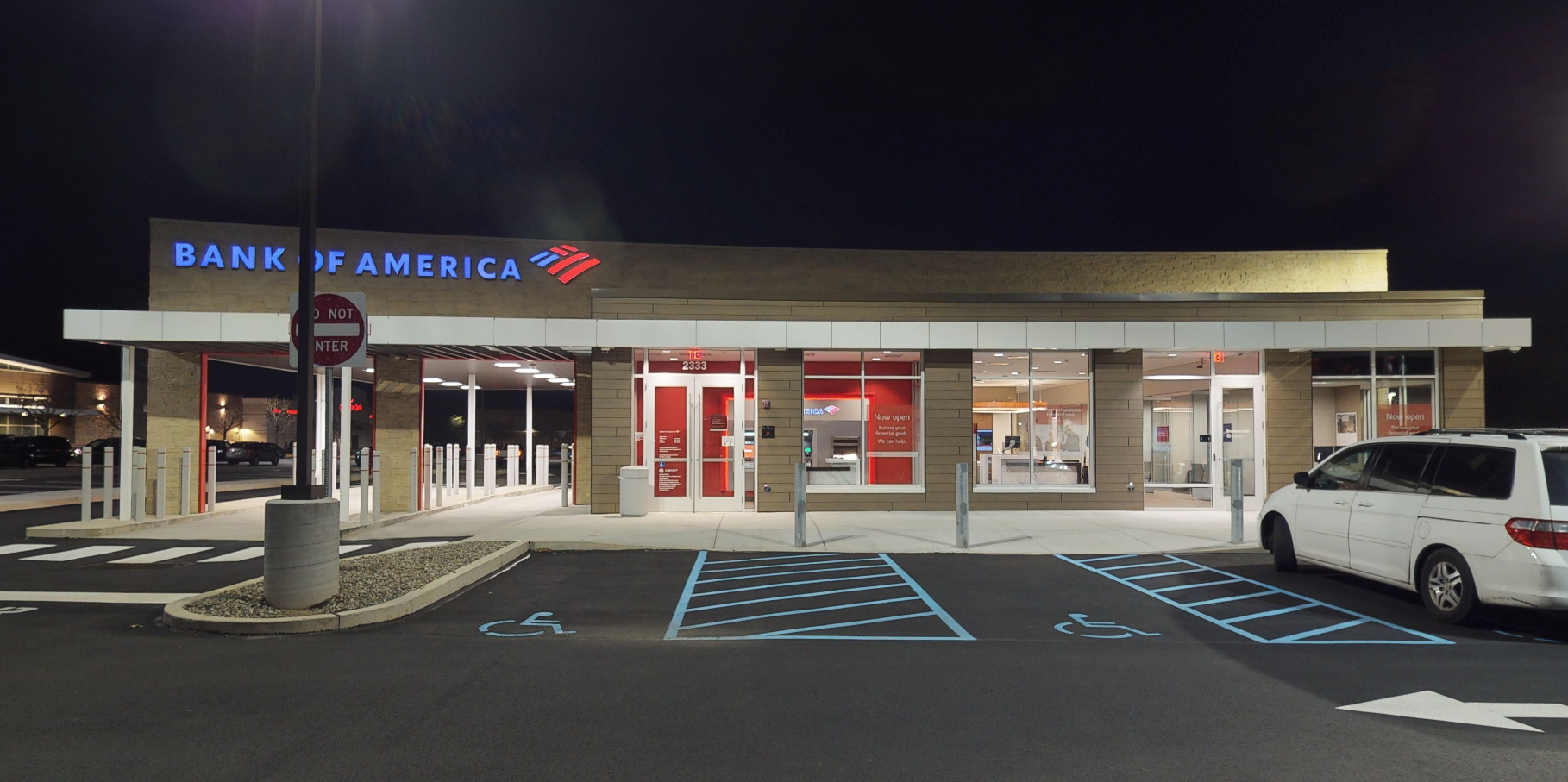 Bank of America financial center with drive-thru ATM   2333 E Lincoln Hwy, Langhorne, PA 19047
