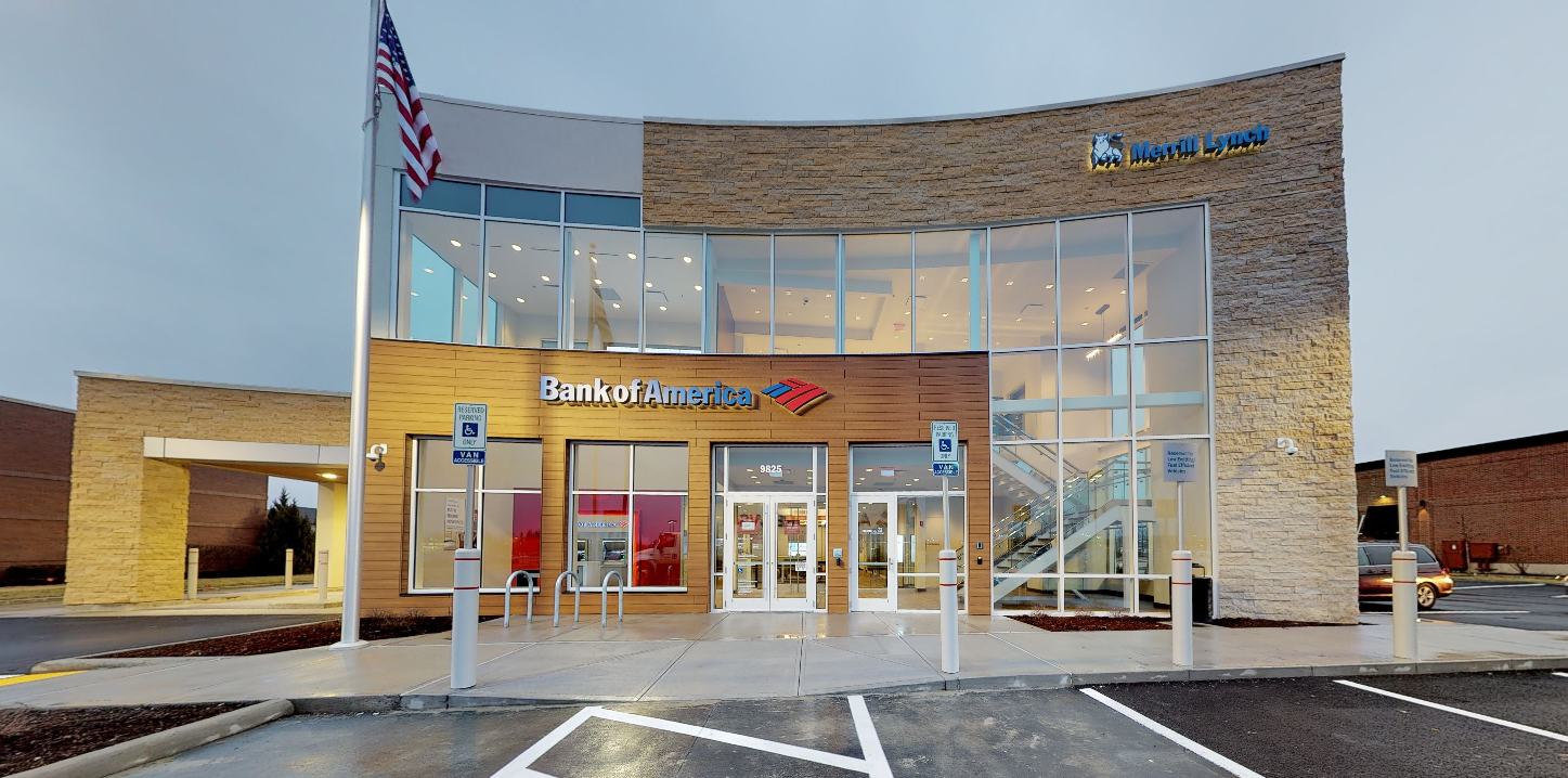Bank of America financial center with drive-thru ATM   9825 Sawmill Pkwy, Powell, OH 43065