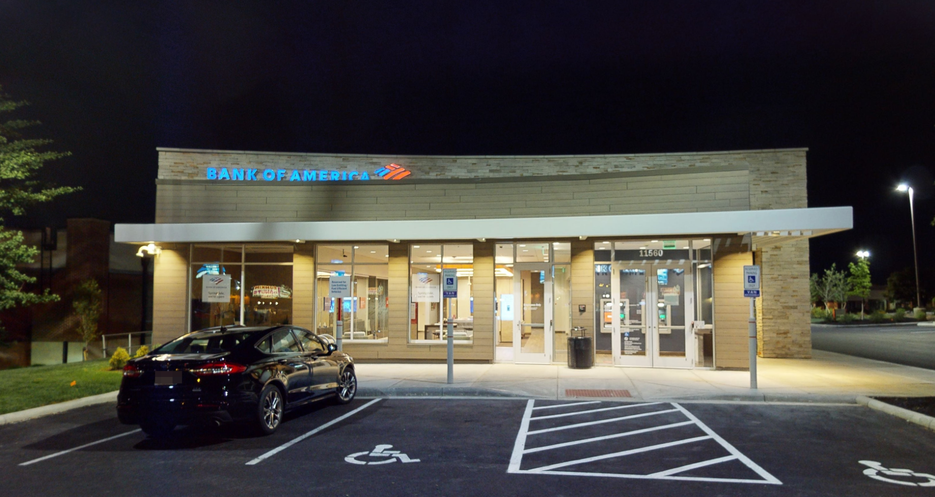 Bank of America financial center with drive-thru ATM | 11560 Princeton Pike, Springdale, OH 45246