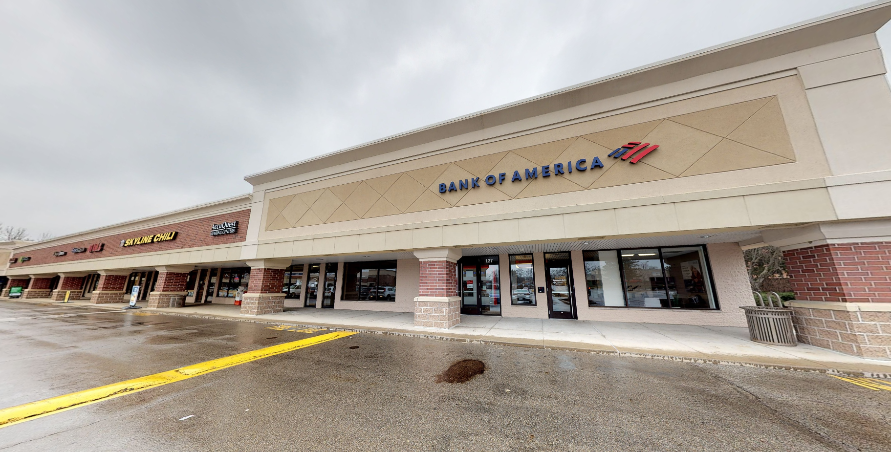 Bank of America financial center with walk-up ATM   127 Westerville Plaza, Westerville, OH 43081