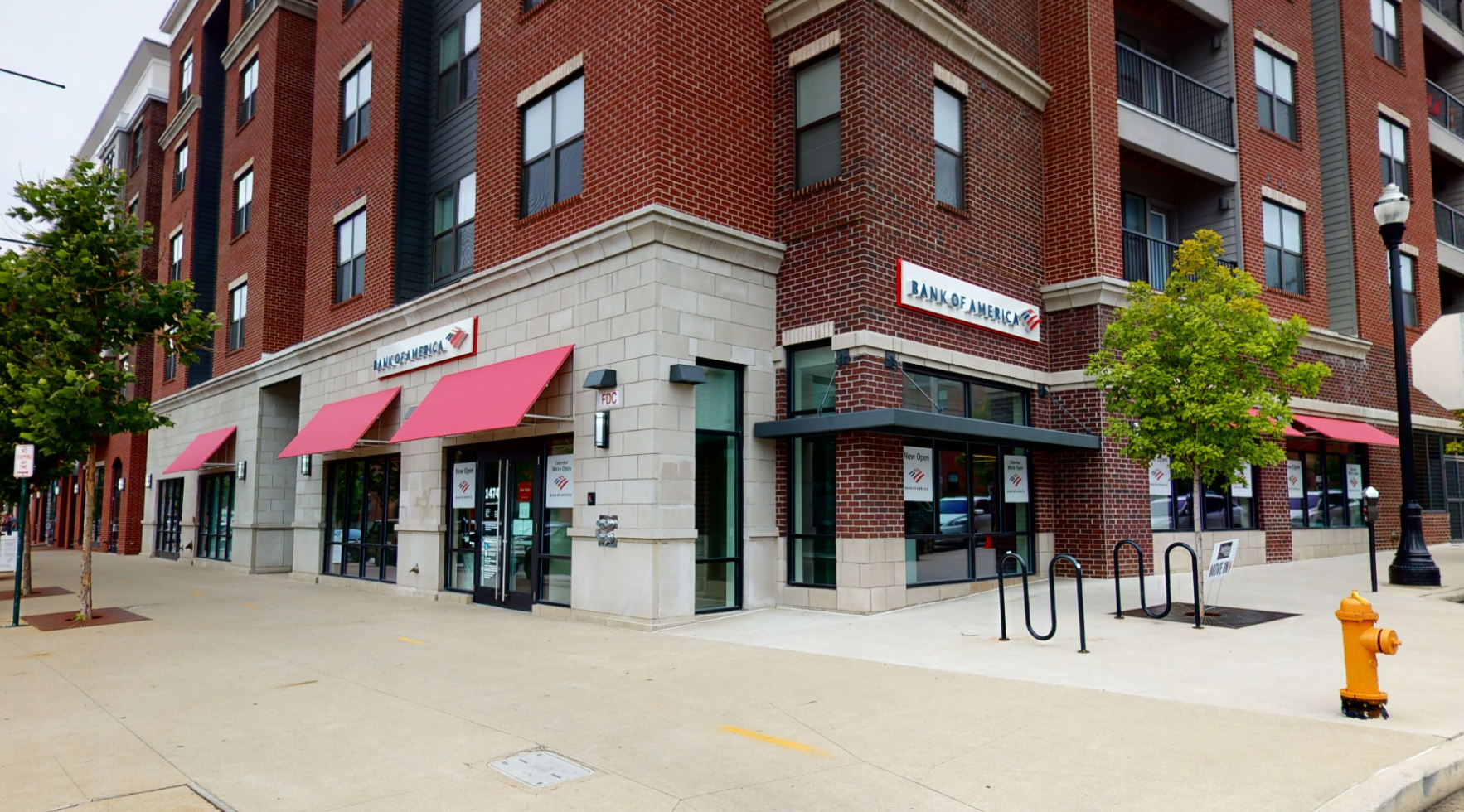 Bank of America financial center with walk-up ATM   1474 N High St, Columbus, OH 43201
