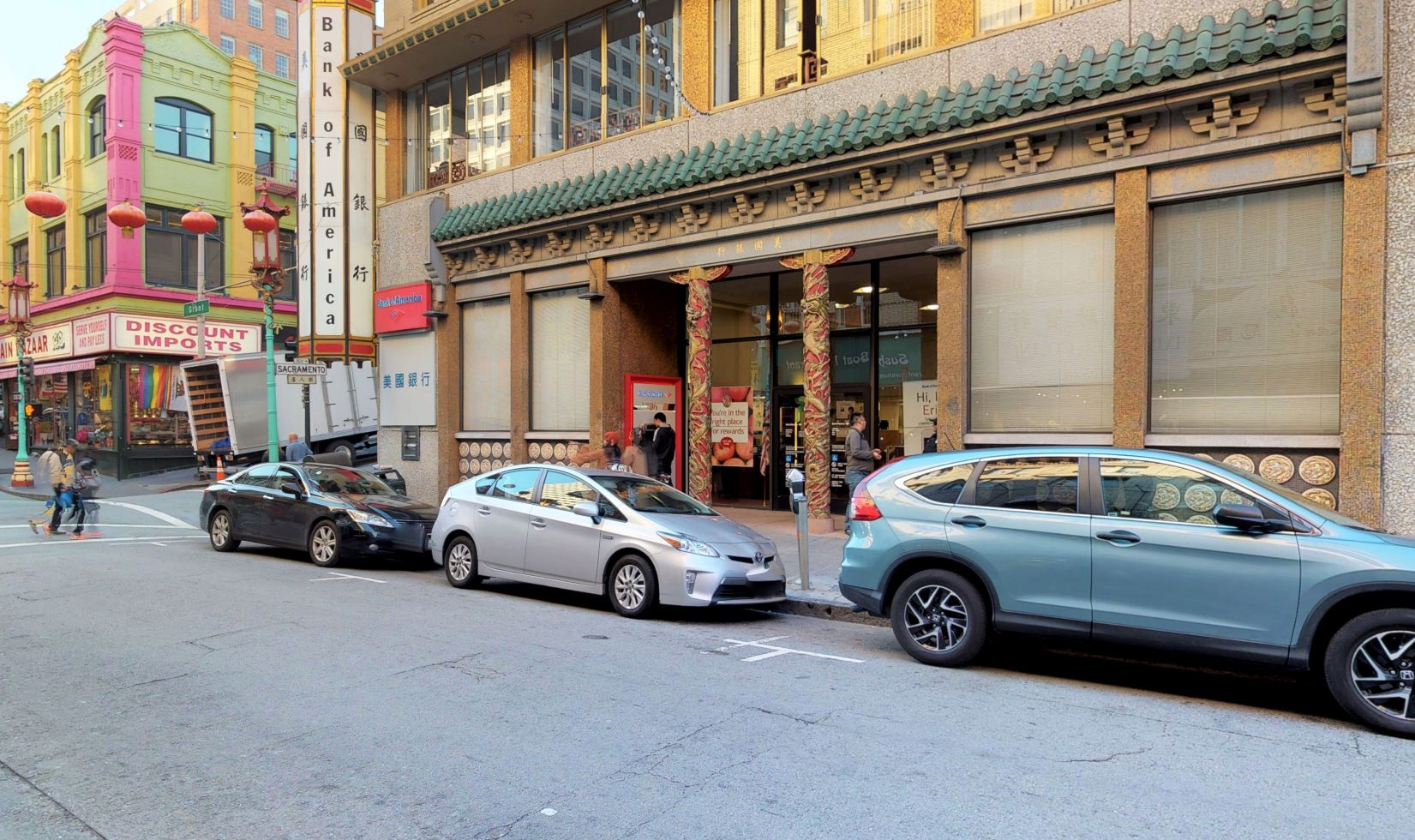Bank of America financial center with walk-up ATM | 701 Grant Ave, San Francisco, CA 94108
