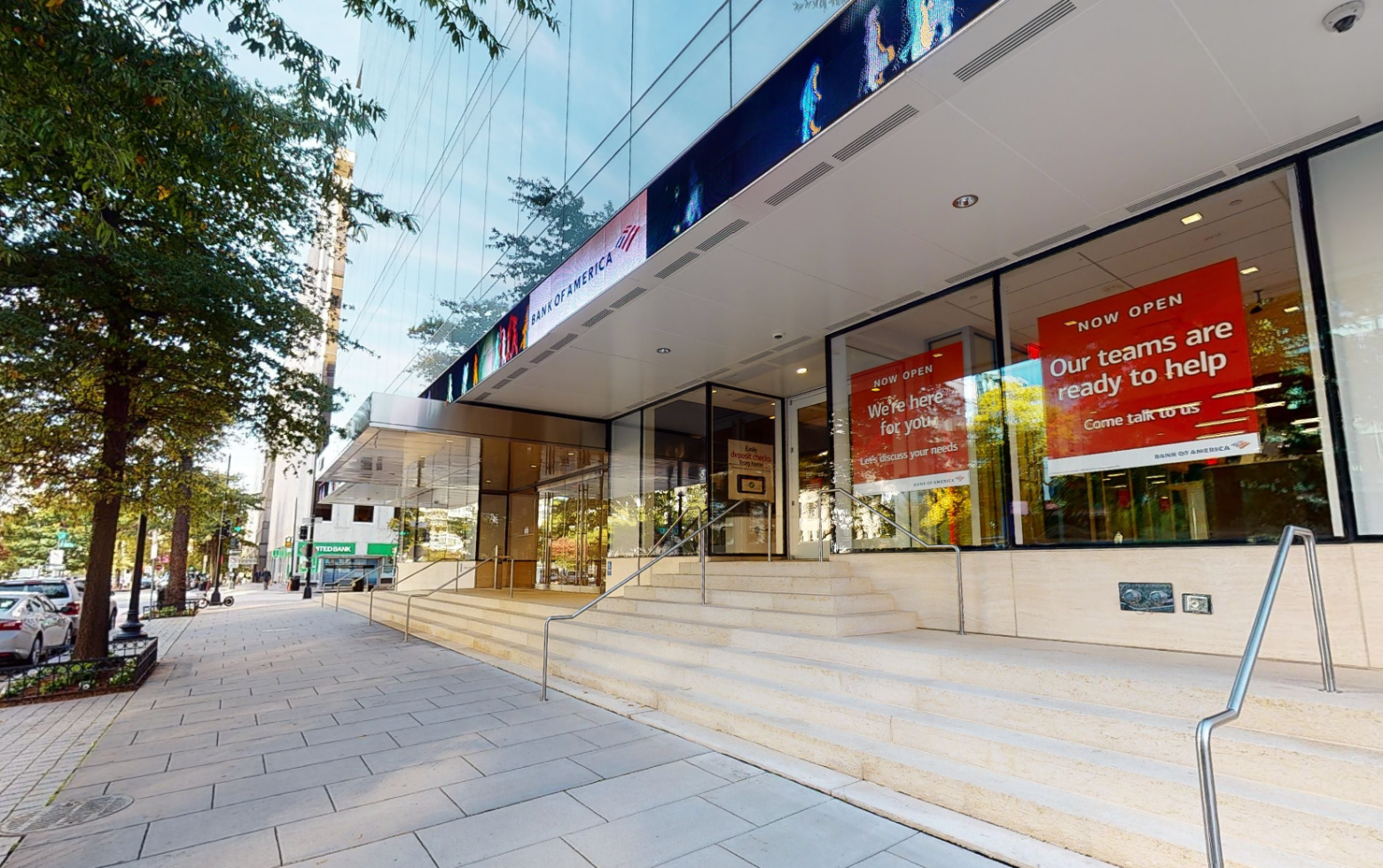 Bank of America financial center with walk-up ATM | 1800 K St NW STE 104, Washington, DC 20006