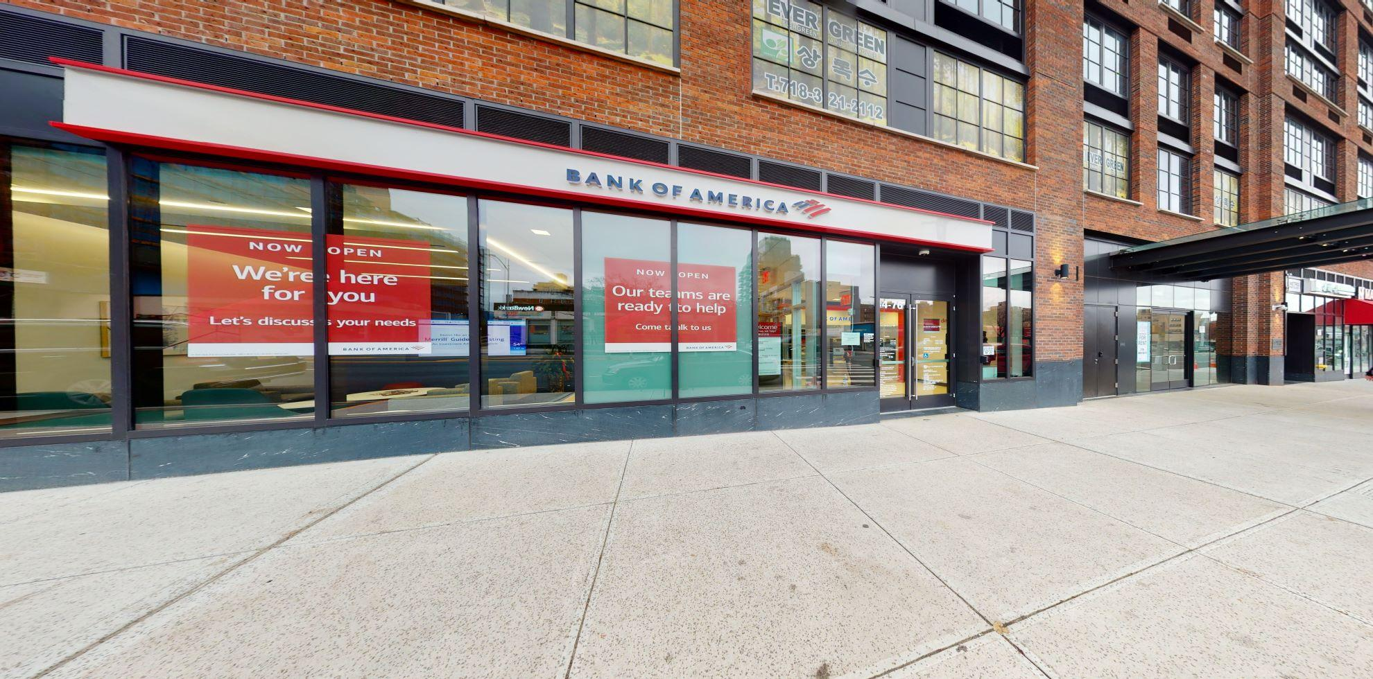 Bank of America financial center with walk-up ATM | 14476 Northern Blvd, Flushing, NY 11354