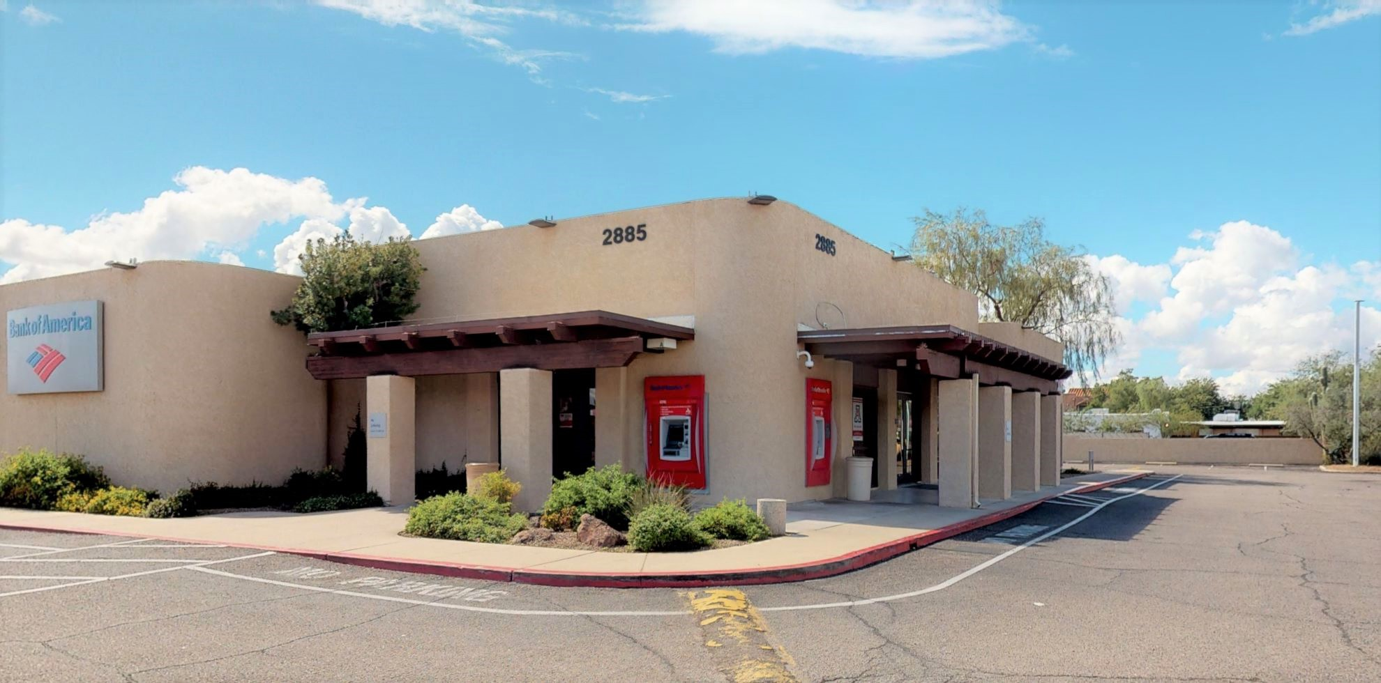 Bank of America financial center with drive-thru ATM   2885 N Campbell Ave, Tucson, AZ 85719