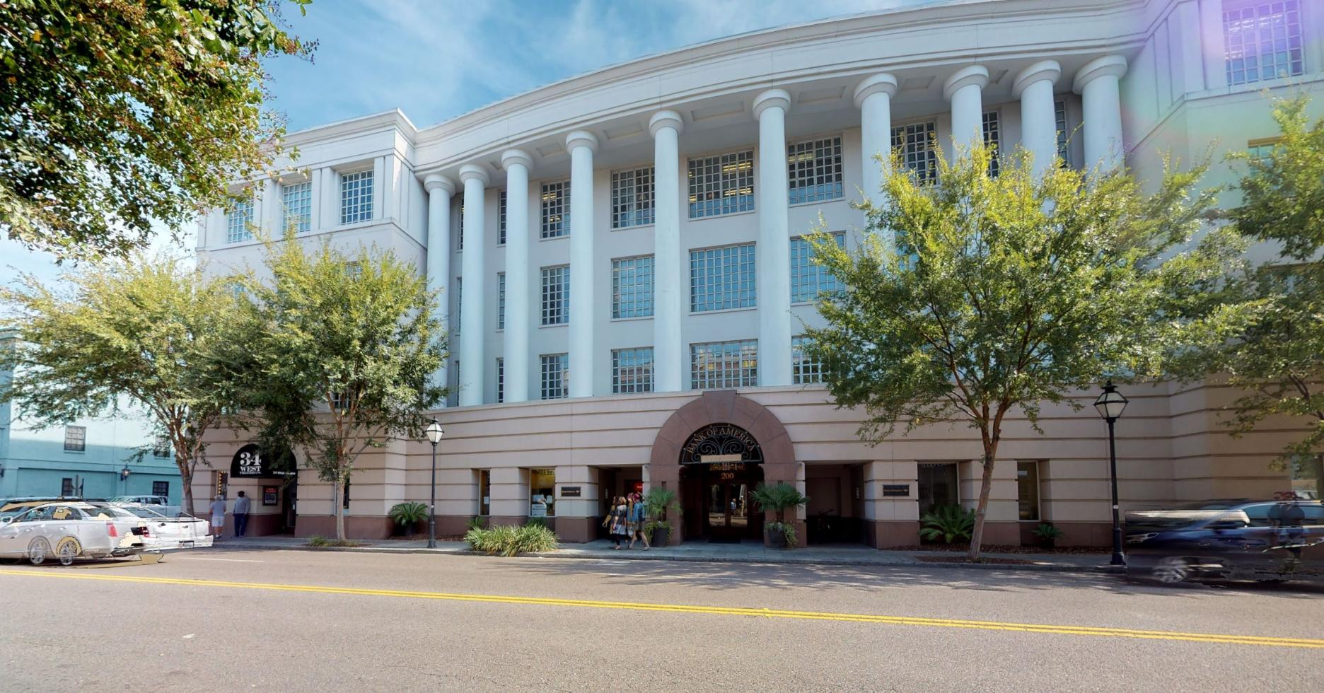 Bank of America financial center with drive-thru ATM | 200 Meeting St STE 100, Charleston, SC 29401