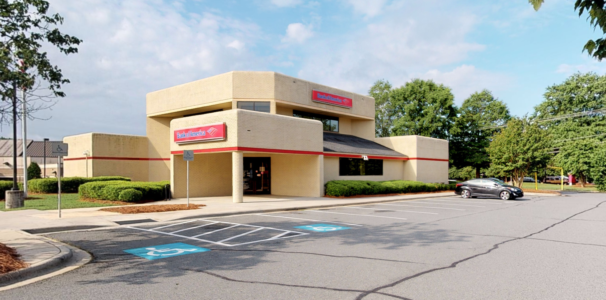 Bank of America financial center with drive-thru ATM and teller   7911 Providence Rd, Charlotte, NC 28277