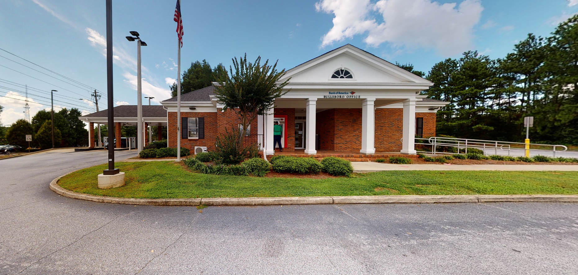 Bank of America financial center with drive-thru ATM | 60 Bullsboro Dr, Newnan, GA 30263