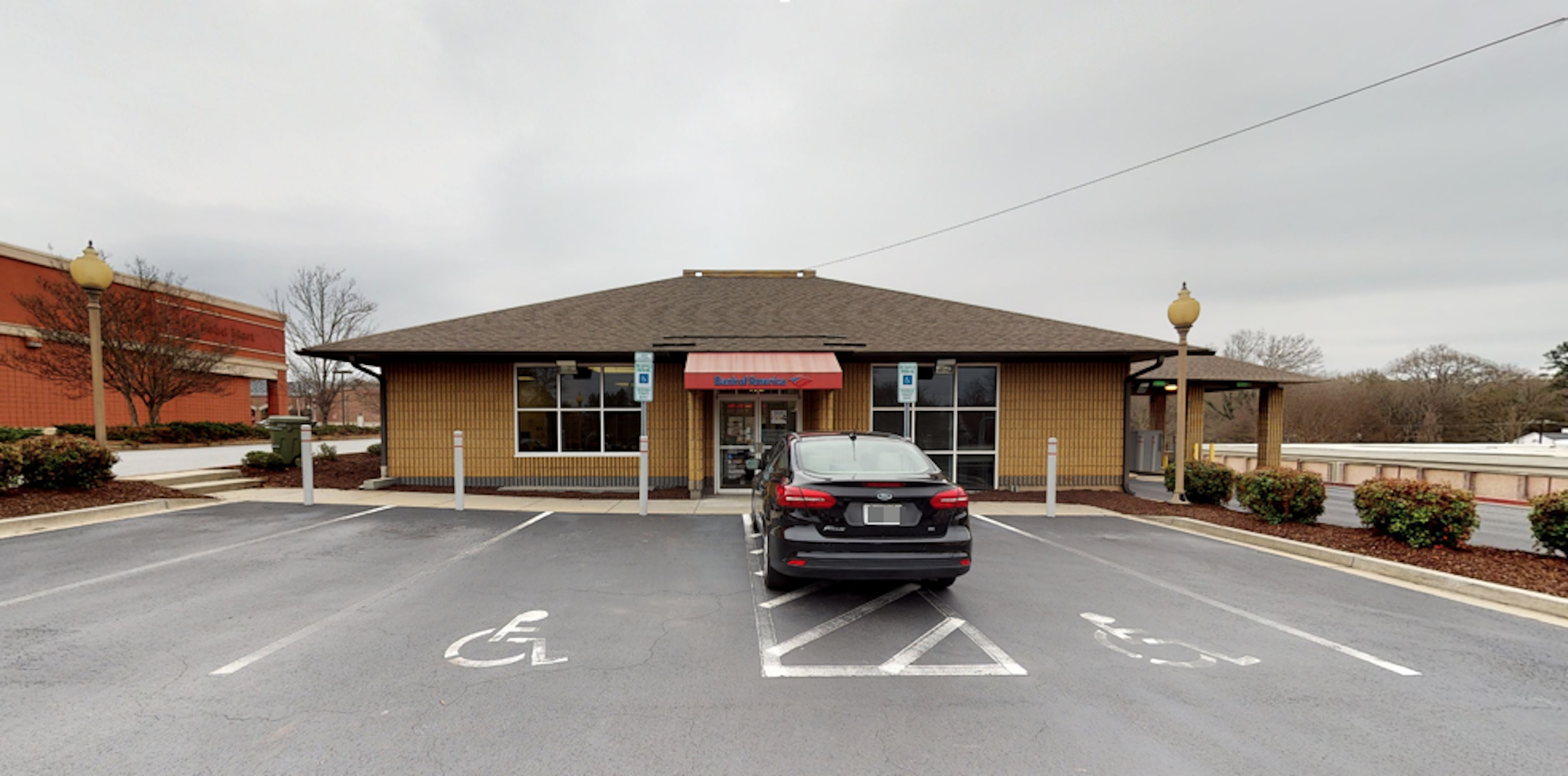 Bank of America financial center with drive-thru ATM | 521 College Ave, Clemson, SC 29631