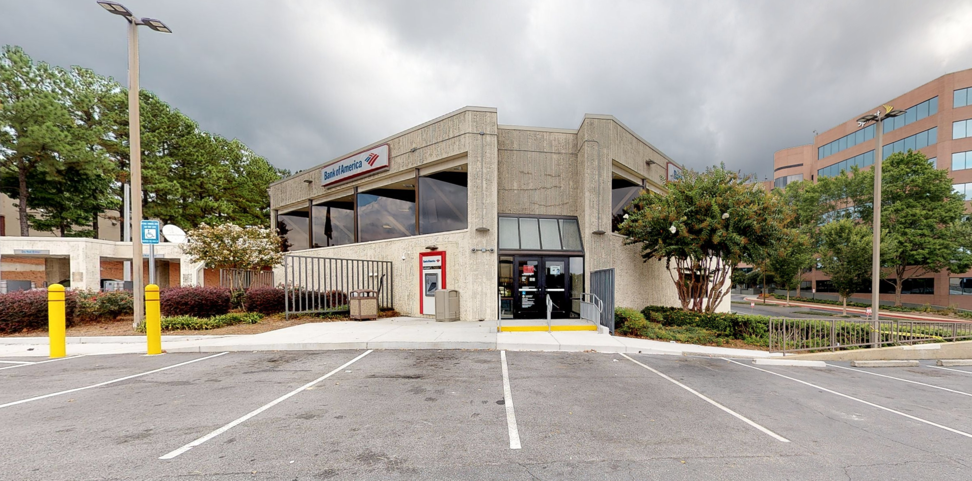 Bank of America financial center with drive-thru ATM and teller   3057 Akers Mill Rd SE, Atlanta, GA 30339
