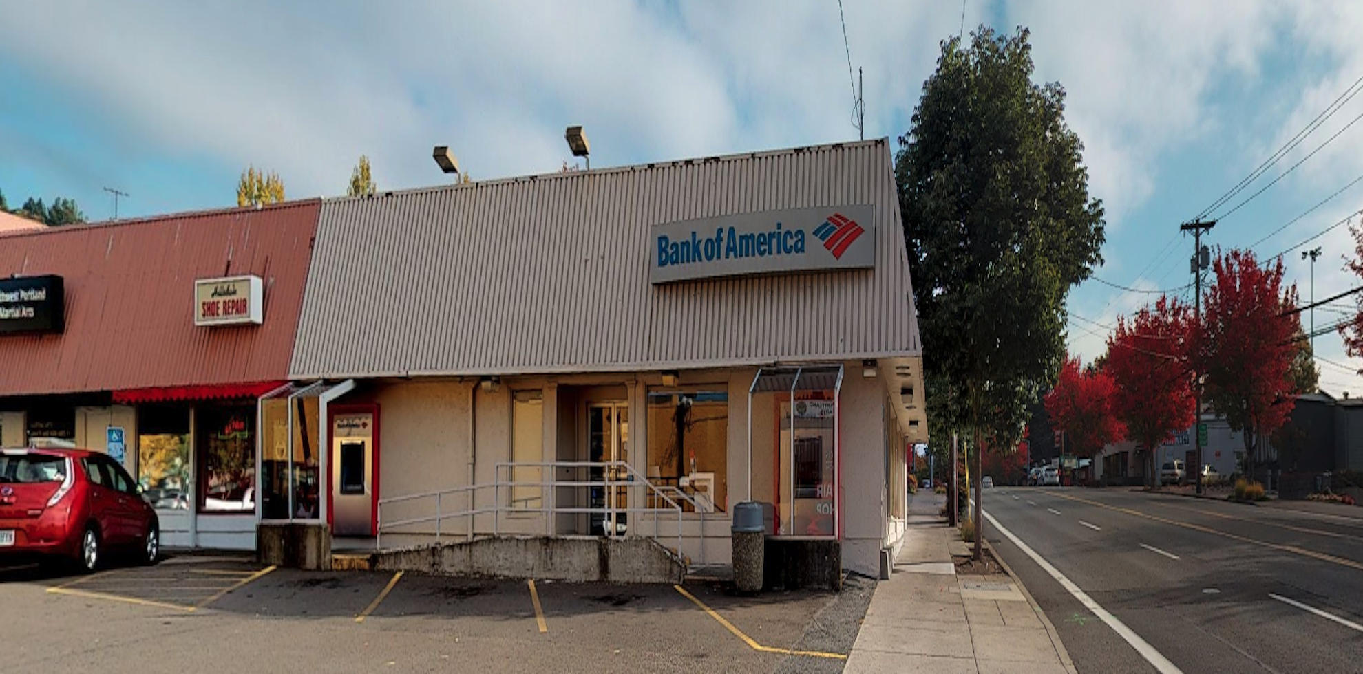 Bank of America financial center with walk-up ATM   6309 SW Capitol Hwy, Portland, OR 97239