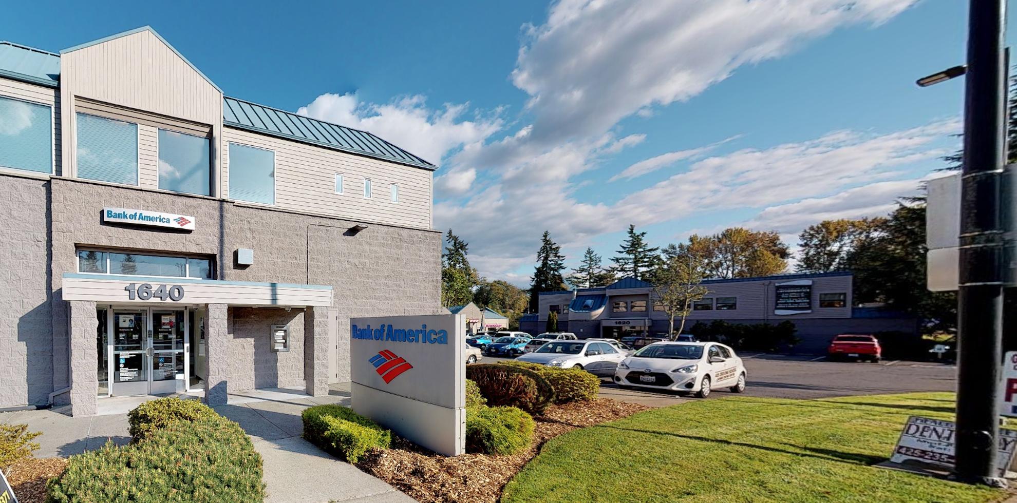 Bank of America financial center with drive-thru ATM | 1640 Duvall Ave NE, Renton, WA 98059