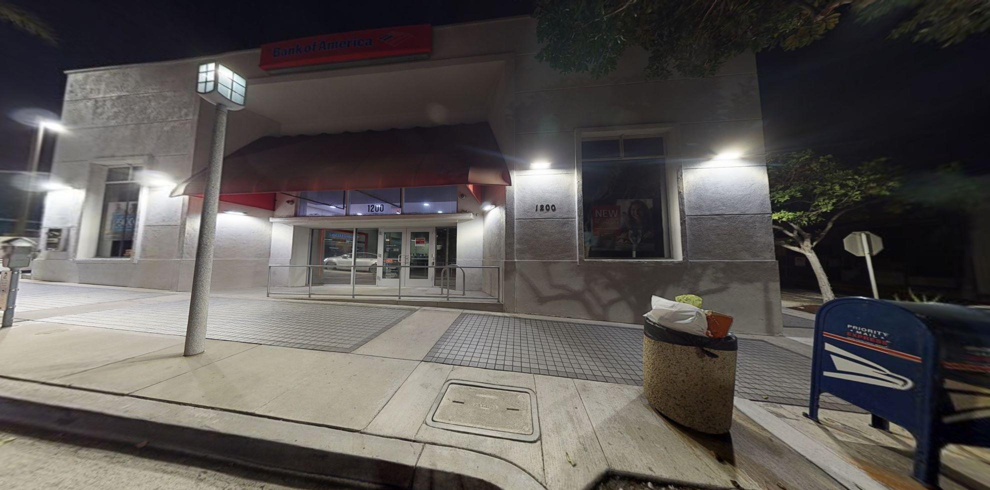 Bank of America financial center with walk-up ATM   1200 Highland Ave, Manhattan Beach, CA 90266