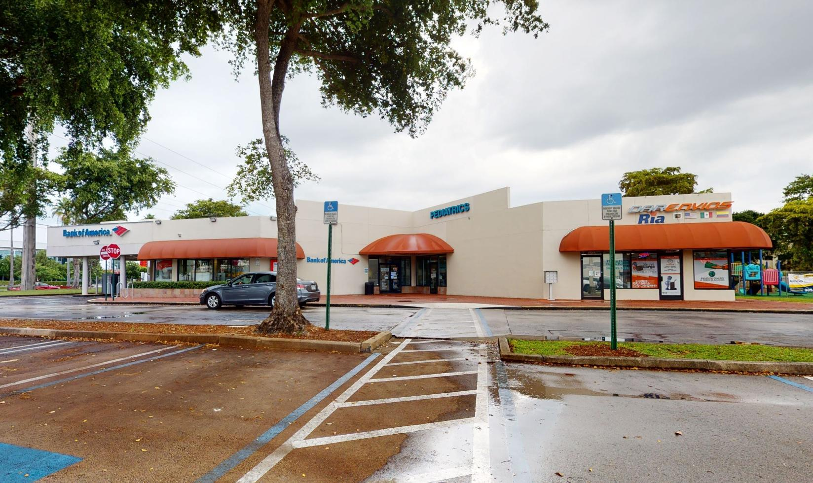 Bank of America financial center with drive-thru ATM and teller   6901 SW 117th Ave, Miami, FL 33183