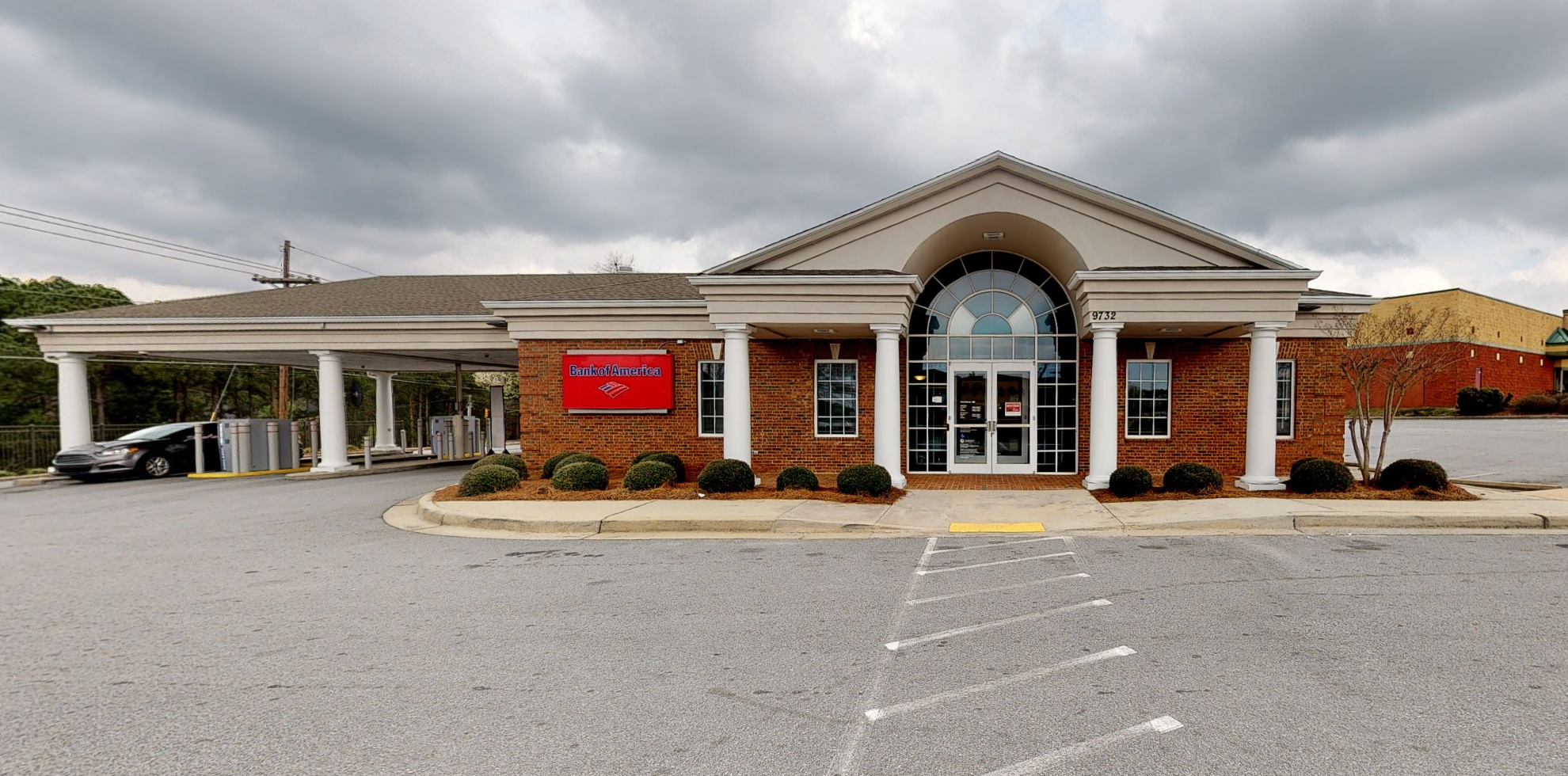 Bank of America financial center with drive-thru ATM   9732 Two Notch Rd, Columbia, SC 29223