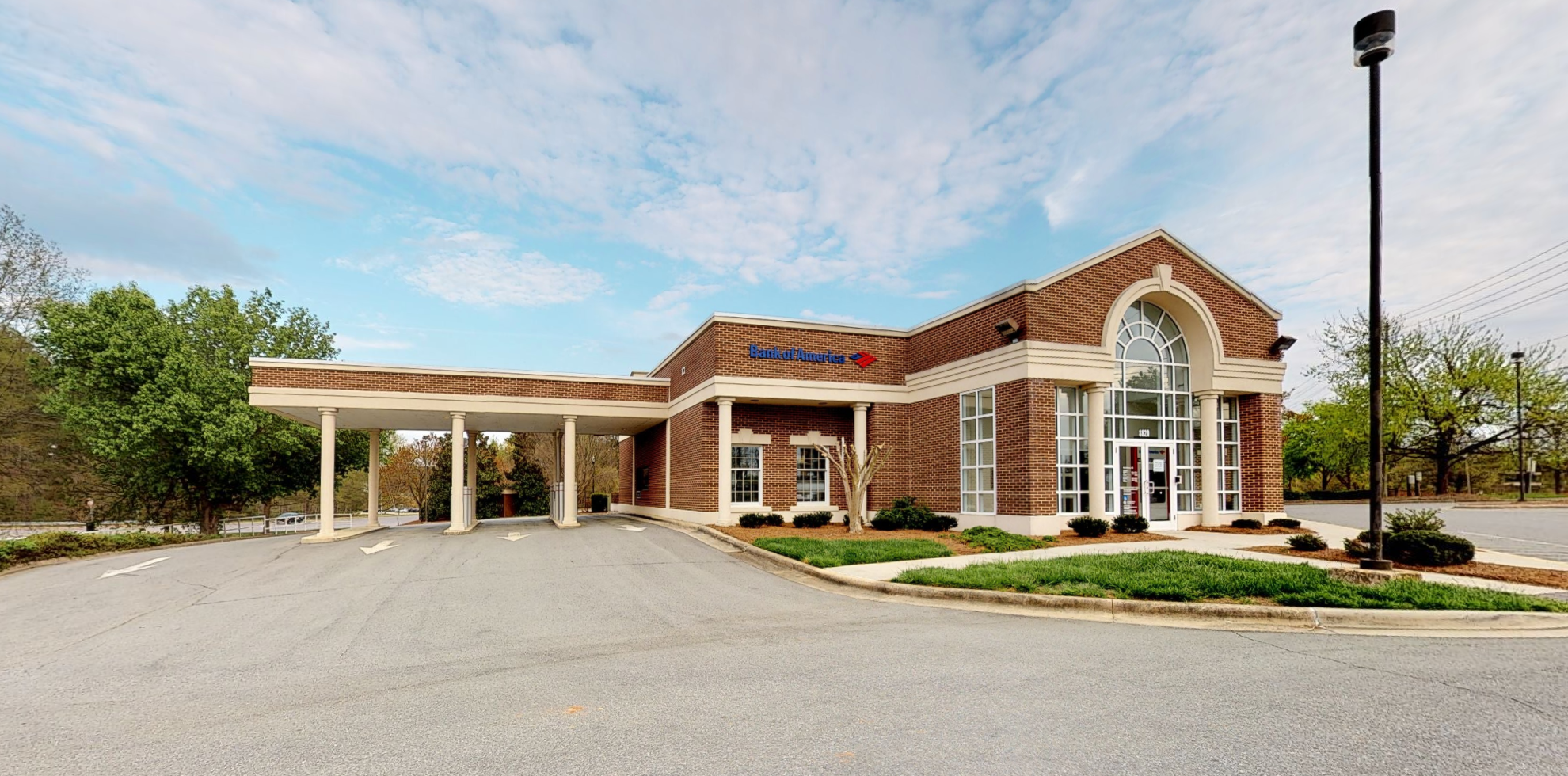 Bank of America financial center with drive-thru ATM and teller   8820 Six Forks Rd, Raleigh, NC 27615